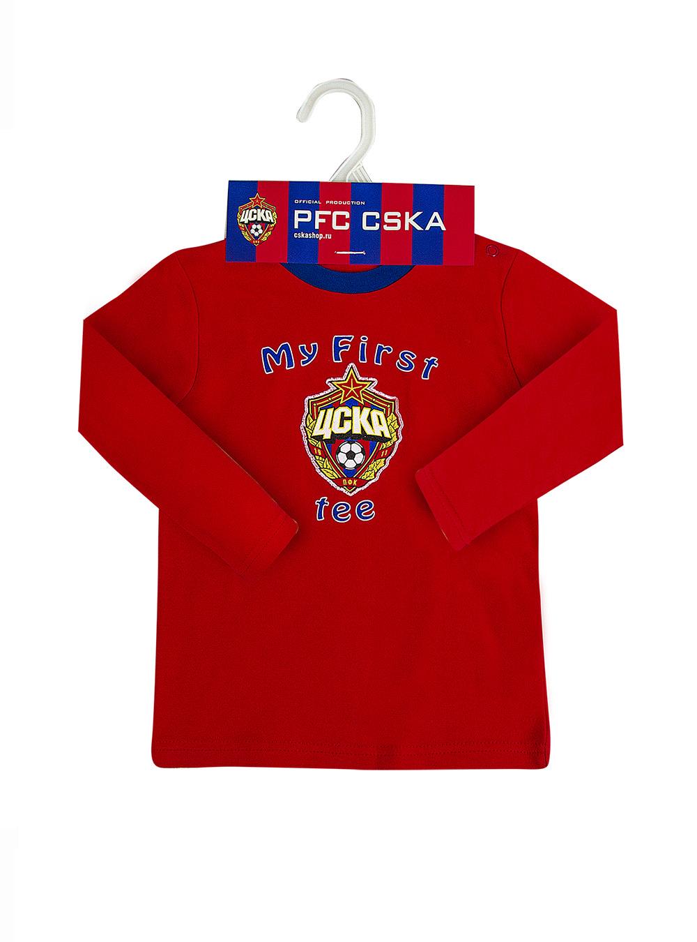 Футболка с длинным рукавом, цвет красный (62 (0-3 мес.))Для самых маленьких<br>Футболка с длинным рукавом, цвет красный<br>
