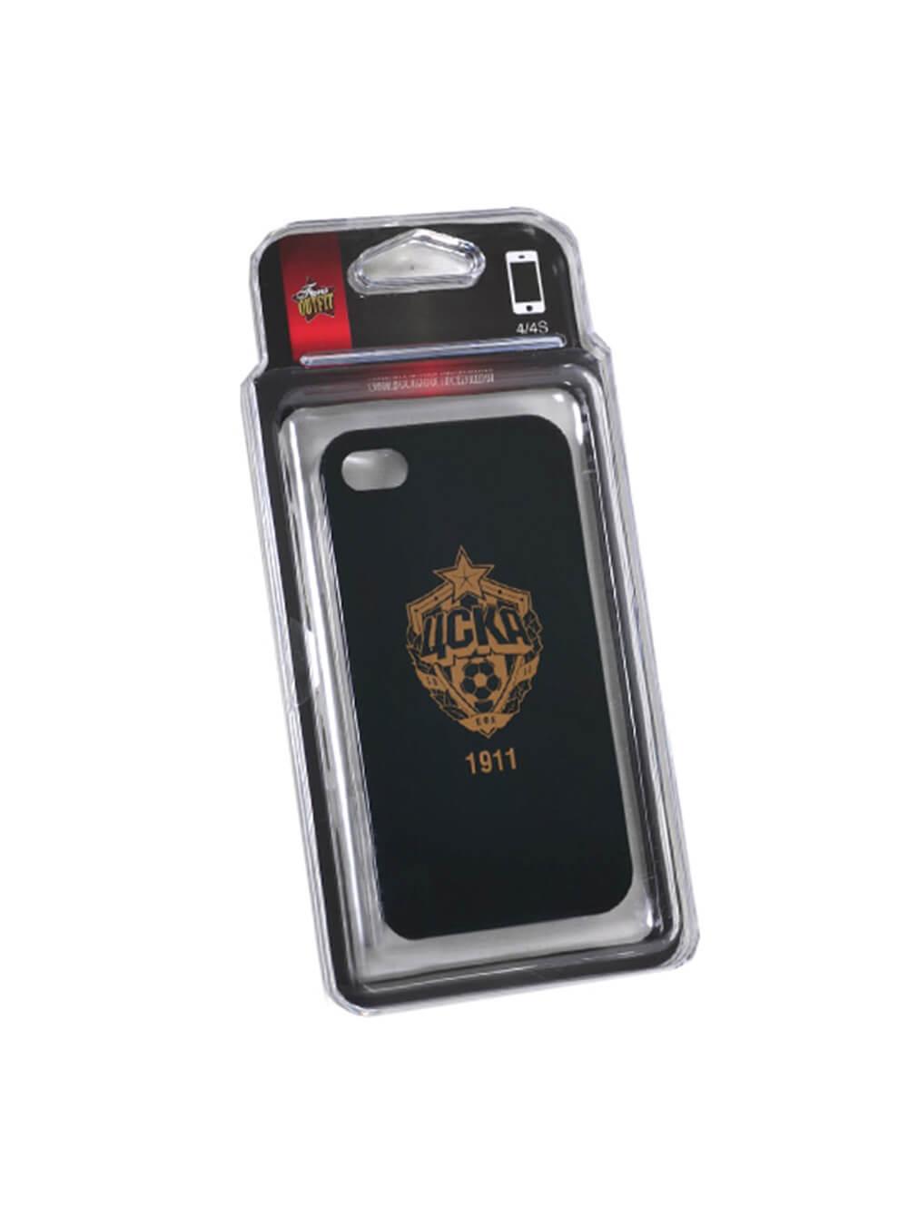 Клип-кейс для iPhone 4/4S черный с золотой эмблемой ПФК ЦСКА