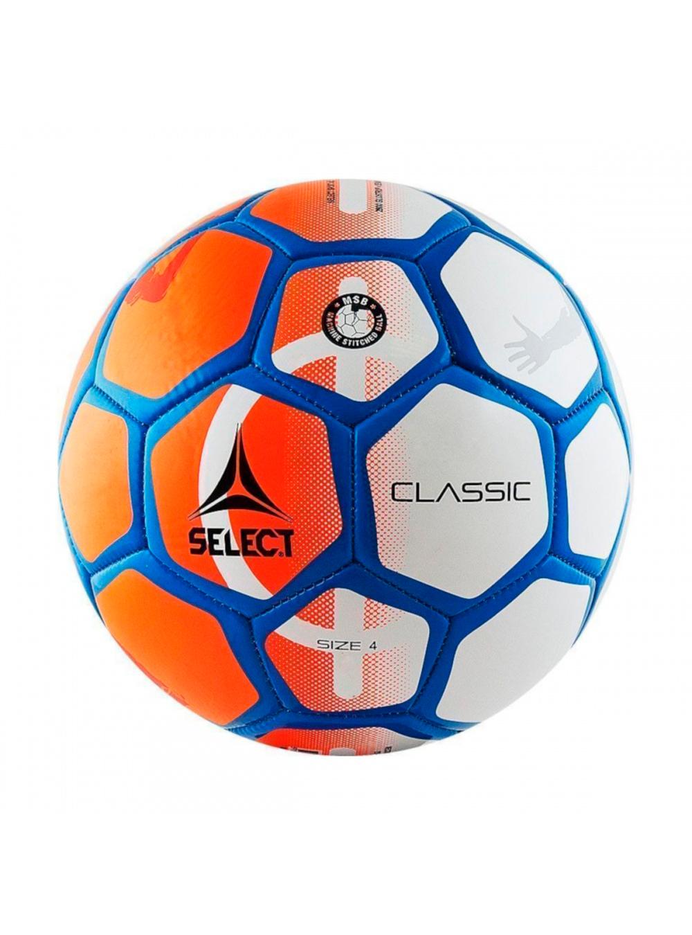 Мяч футбольный оранжевый/белый, размер 4.(SELEKT CLASSIC)