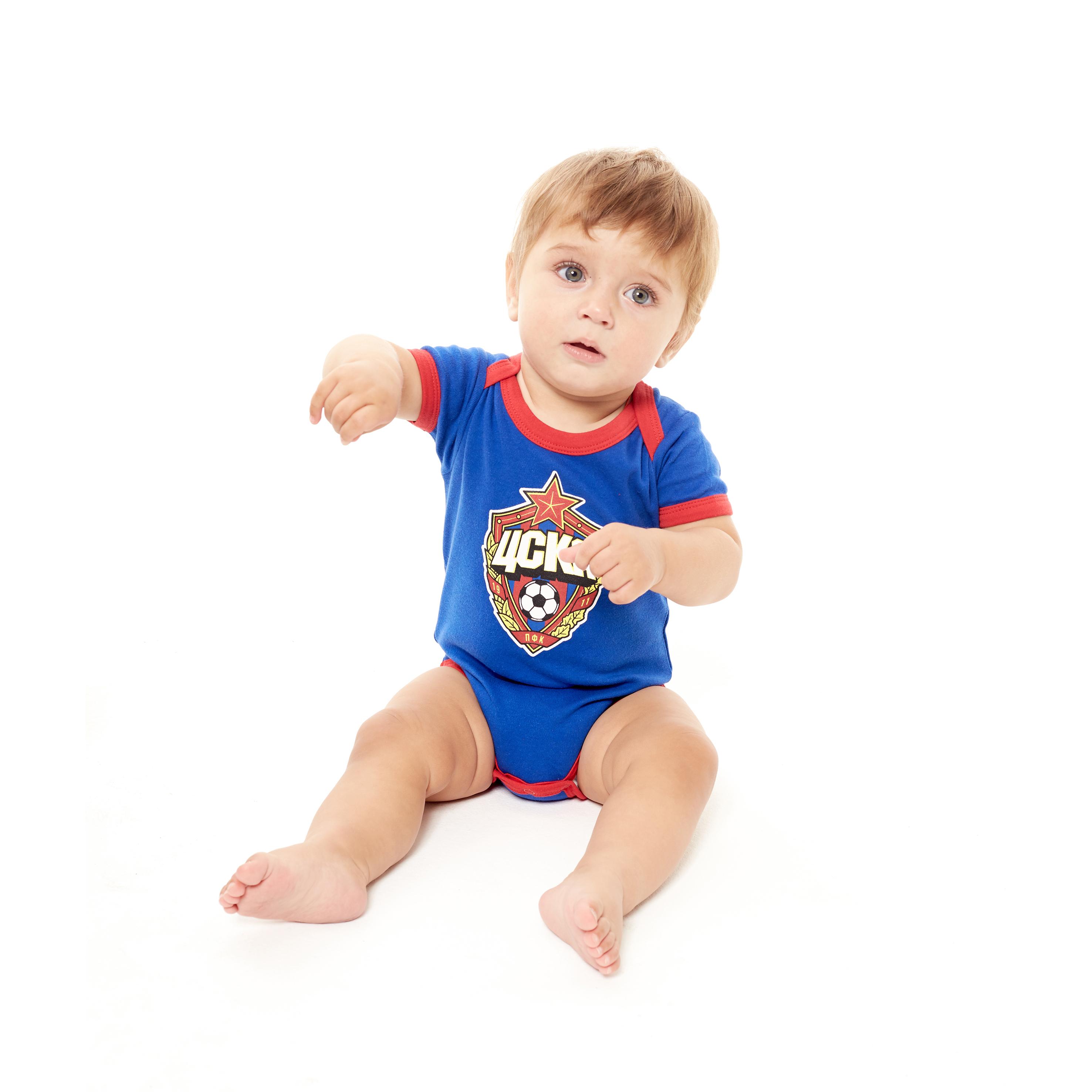 Боди с коротким рукавом, цвет синий (62 (0-3 мес.))Для самых маленьких<br>Боди с коротким рукавом, цвет синий<br>