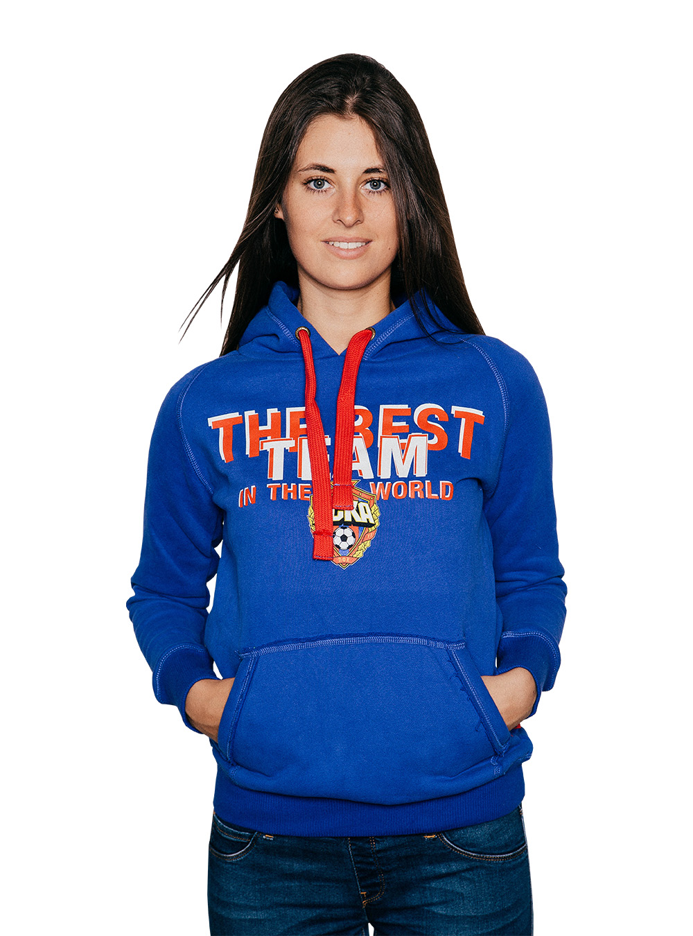 Толстовка женская THE BEST TEAM, цвет синий (L)Толстовки женские<br>Толстовка женская THE BEST TEAM, цвет синий<br>