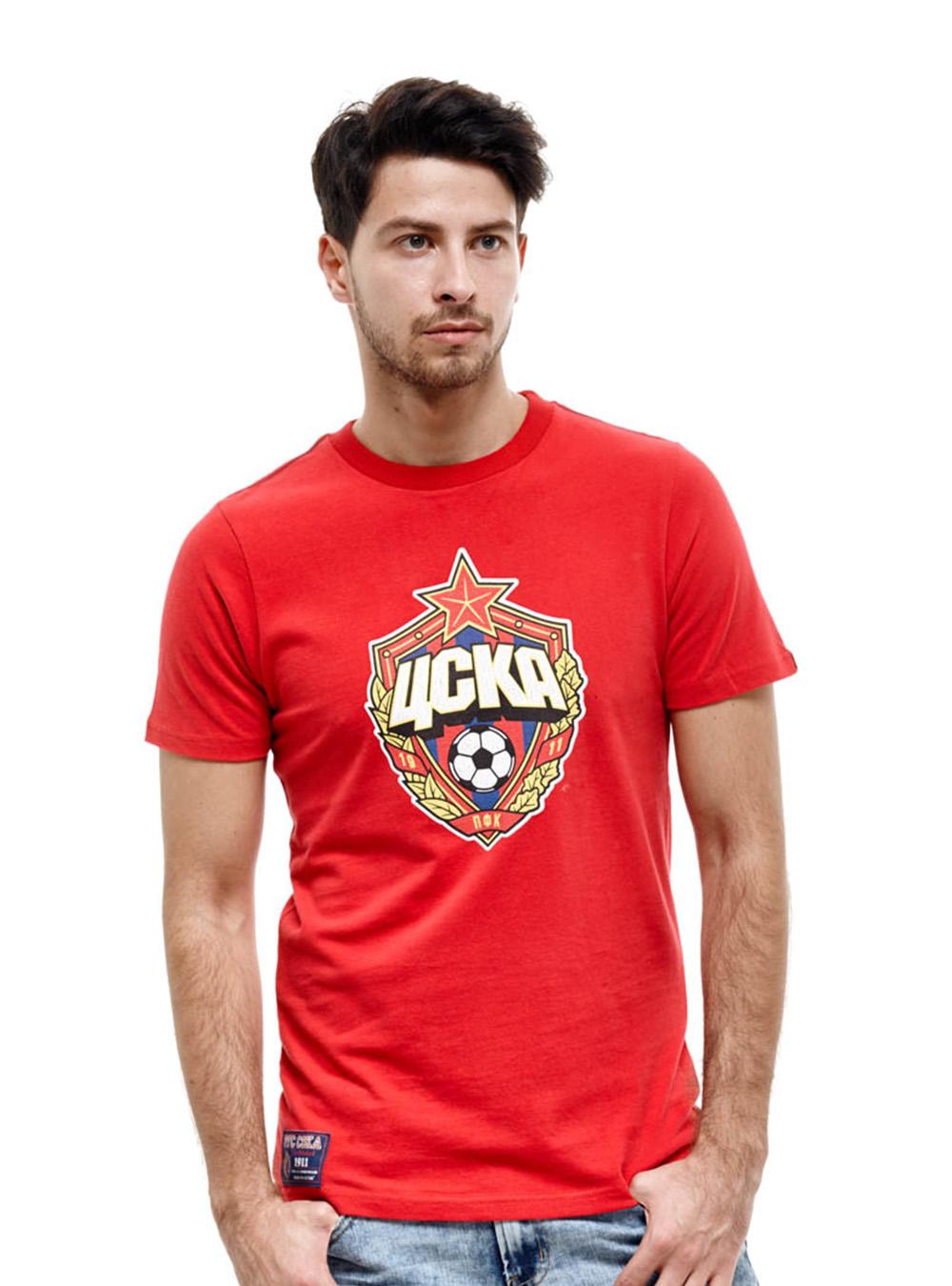Футболка Эмблема, цвет красный (XXL)Футболки мужские<br>Футболка Эмблема, цвет красный<br>