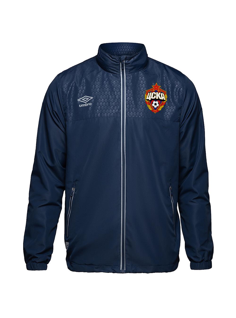 Куртка спортивная, темно-синий/серебро (XL)
