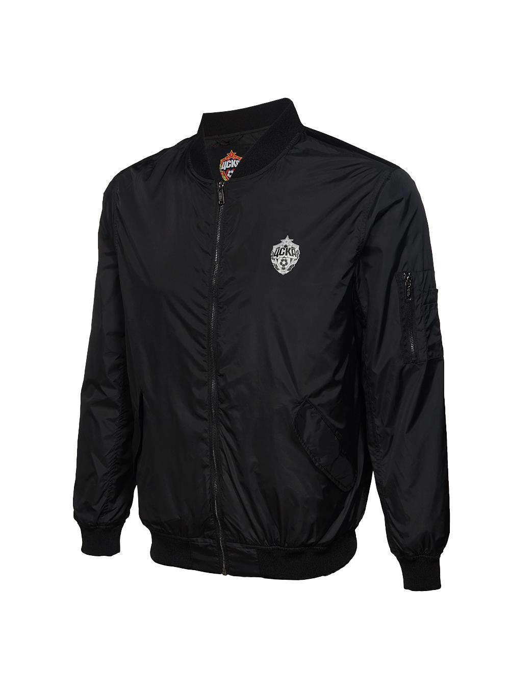 Куртка-бомбер, цвет чёрный (XXXL) фото