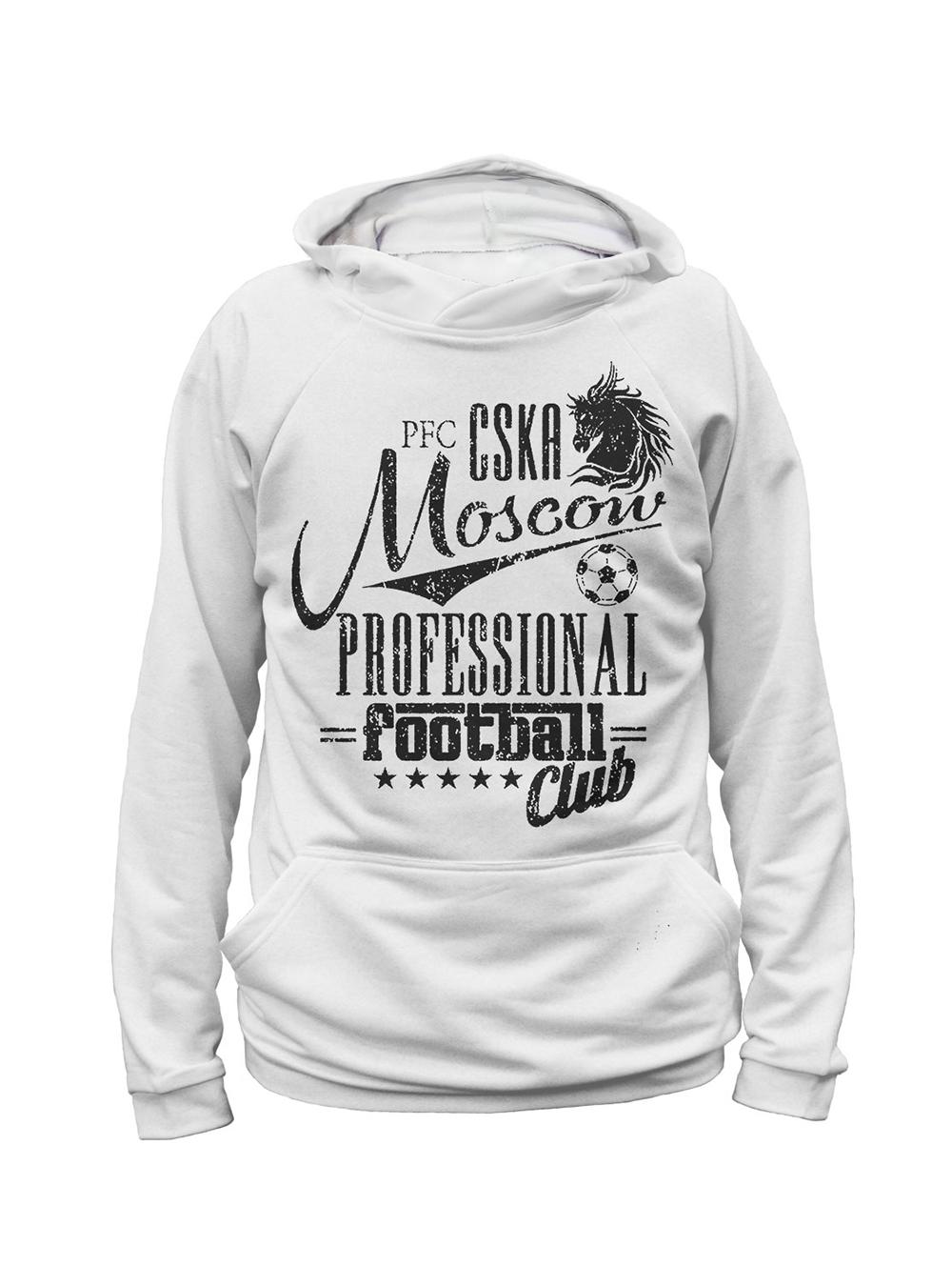Худи женский PFC CSKA Moscow, цвет белый (XXL)Одежда на заказ<br>Худи женский PFC CSKA Moscow, цвет белый<br>
