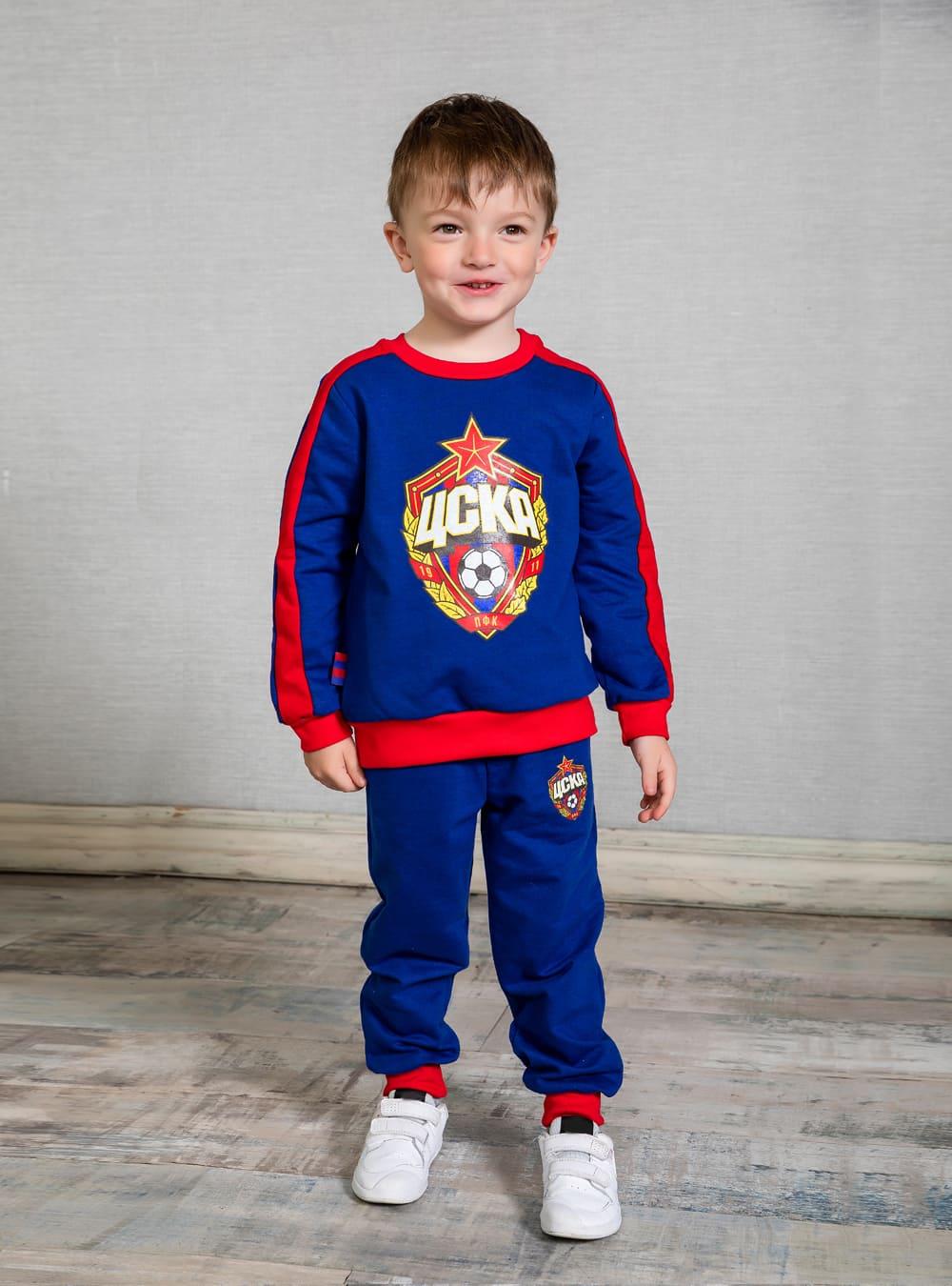 Свитшот детский ЭМБЛЕМА, цвет синий (122) фото