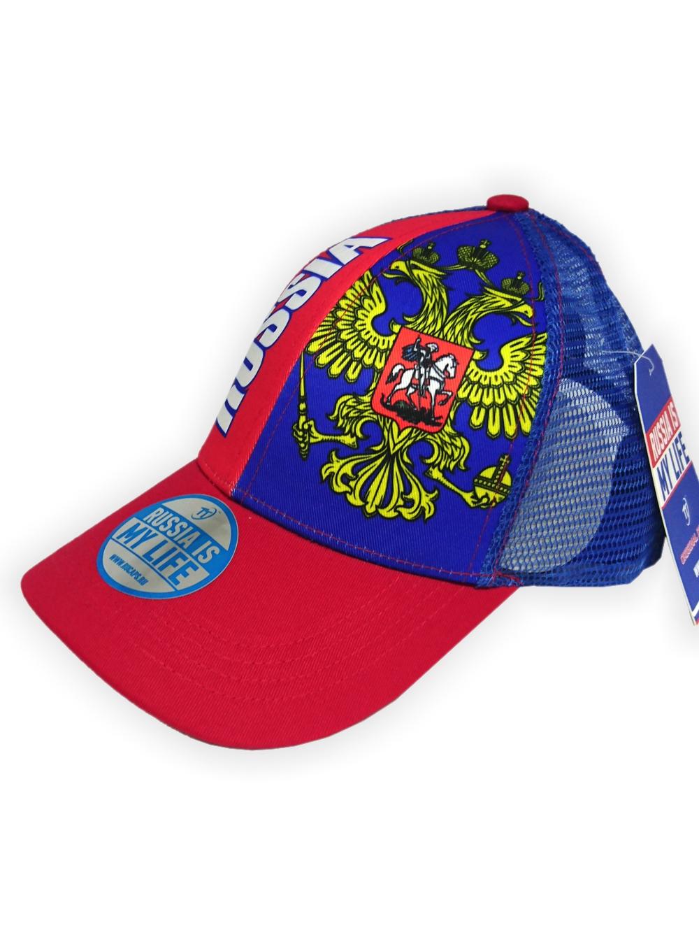 Бейсболка Россия летняя, цвет красный, синийБейсболки<br>Бейсболка Россия летняя, цвет красный, синий<br>