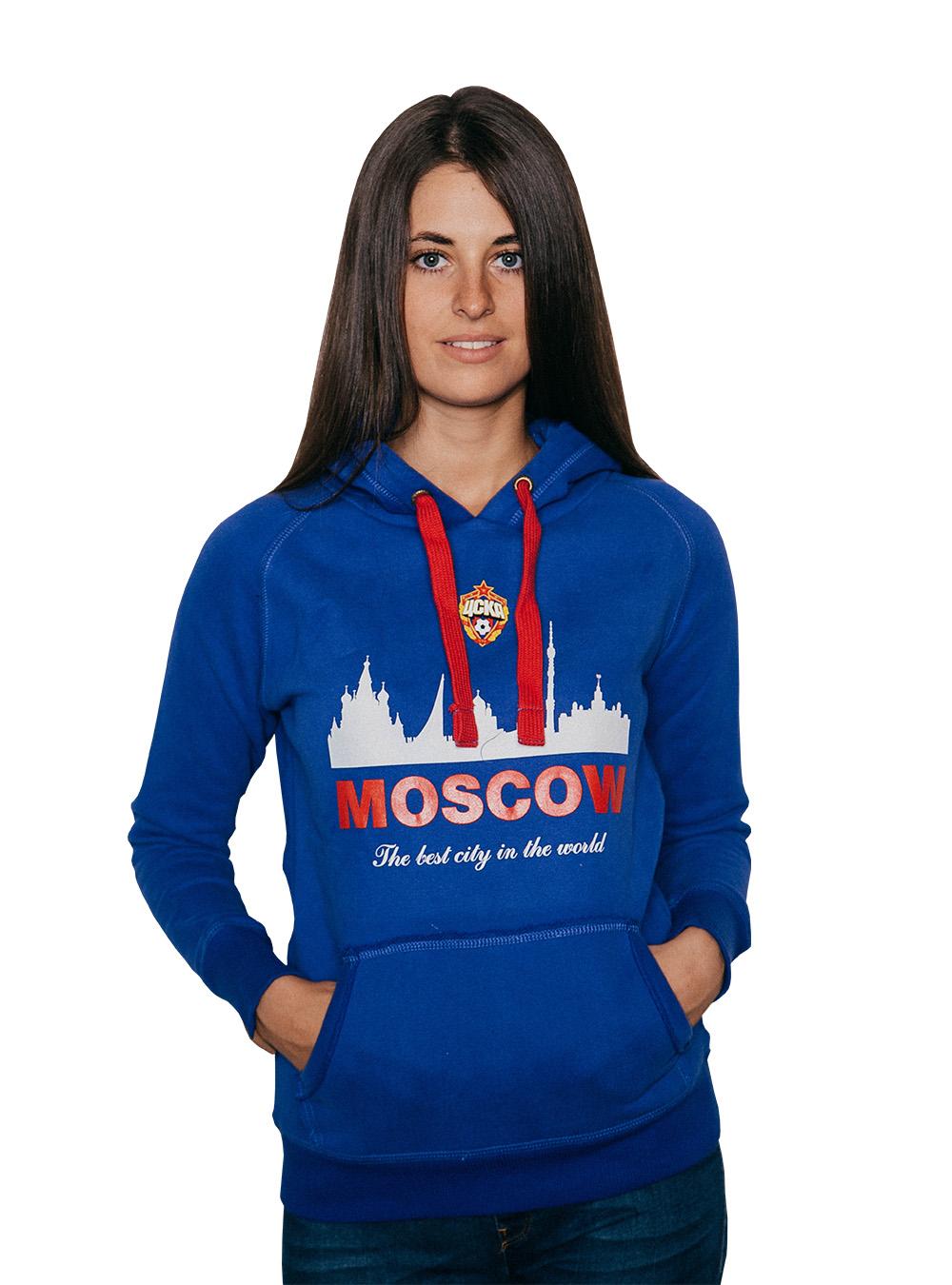 Толстовка женская CITY, цвет синий (S)Толстовки женские<br>Толстовка женская CITY, цвет синий<br>