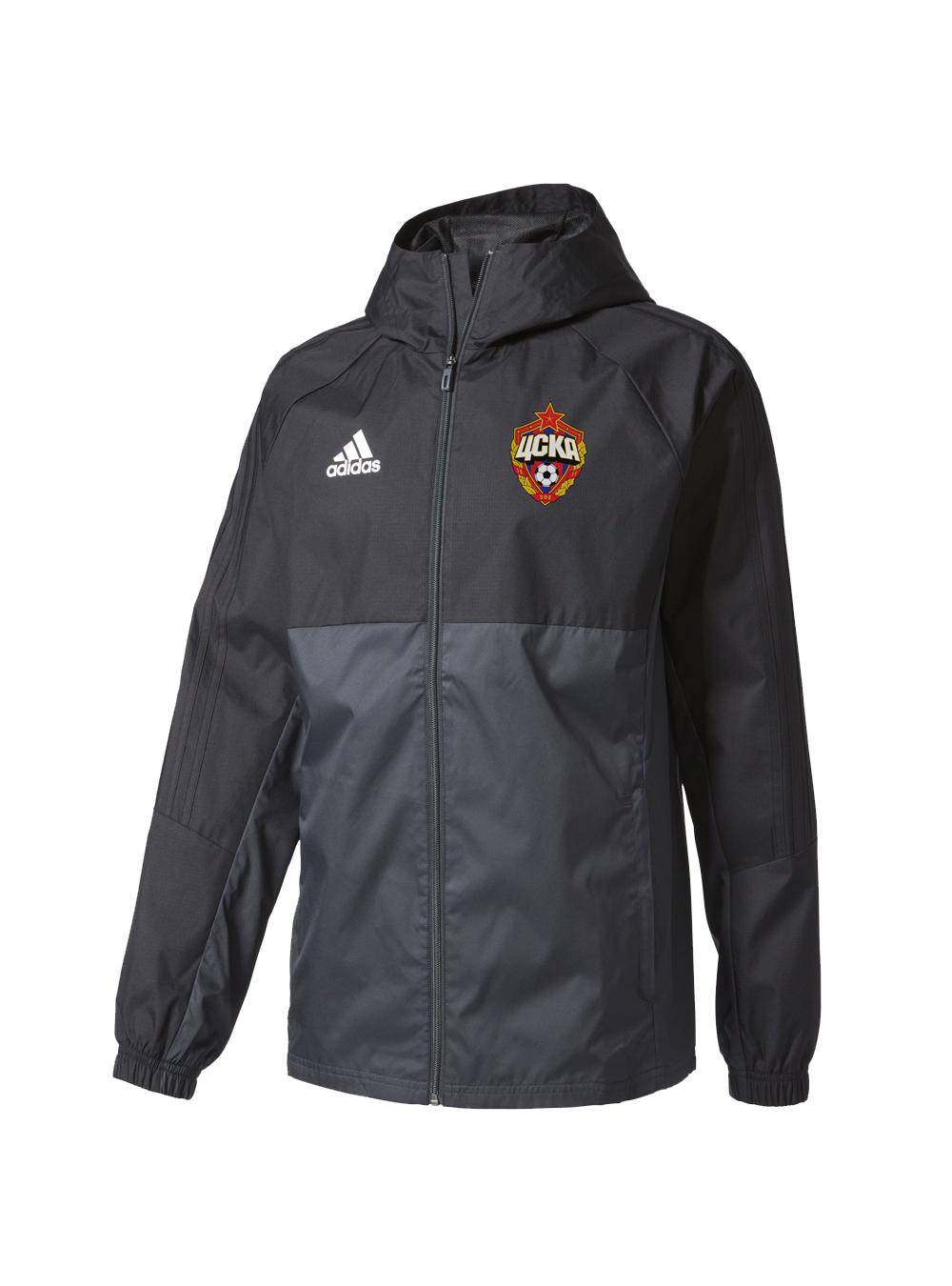 Куртка ветрозащитная с капюшоном, цвет черный (S)Экипировка 2017/2018<br>Куртка ветрозащитная с капюшоном, цвет черный<br>