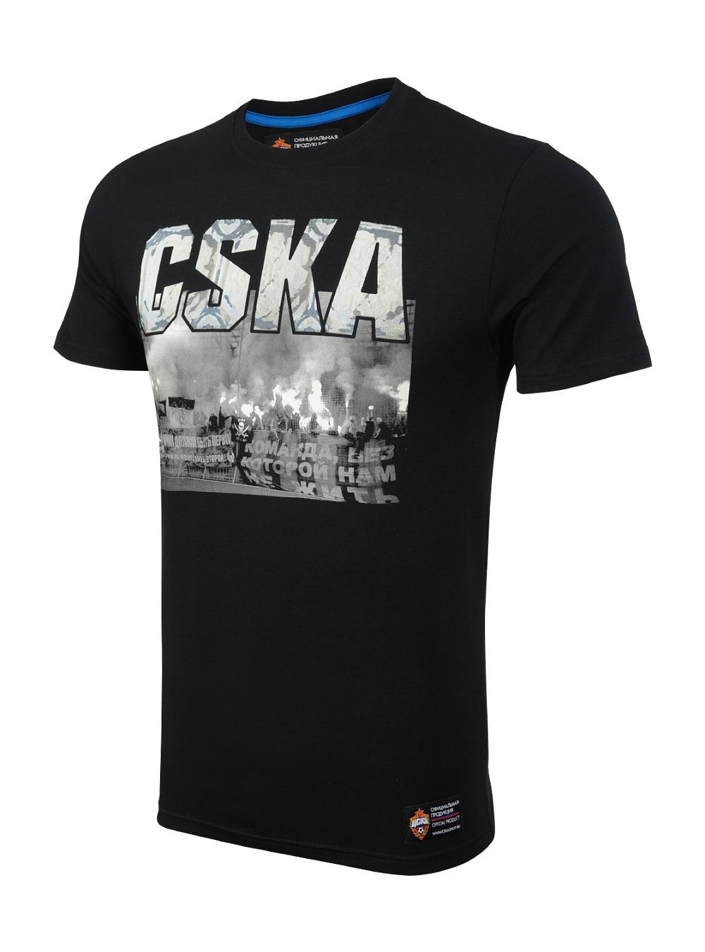 Футболка мужская CSKA FANS, цвет черный (XXL)
