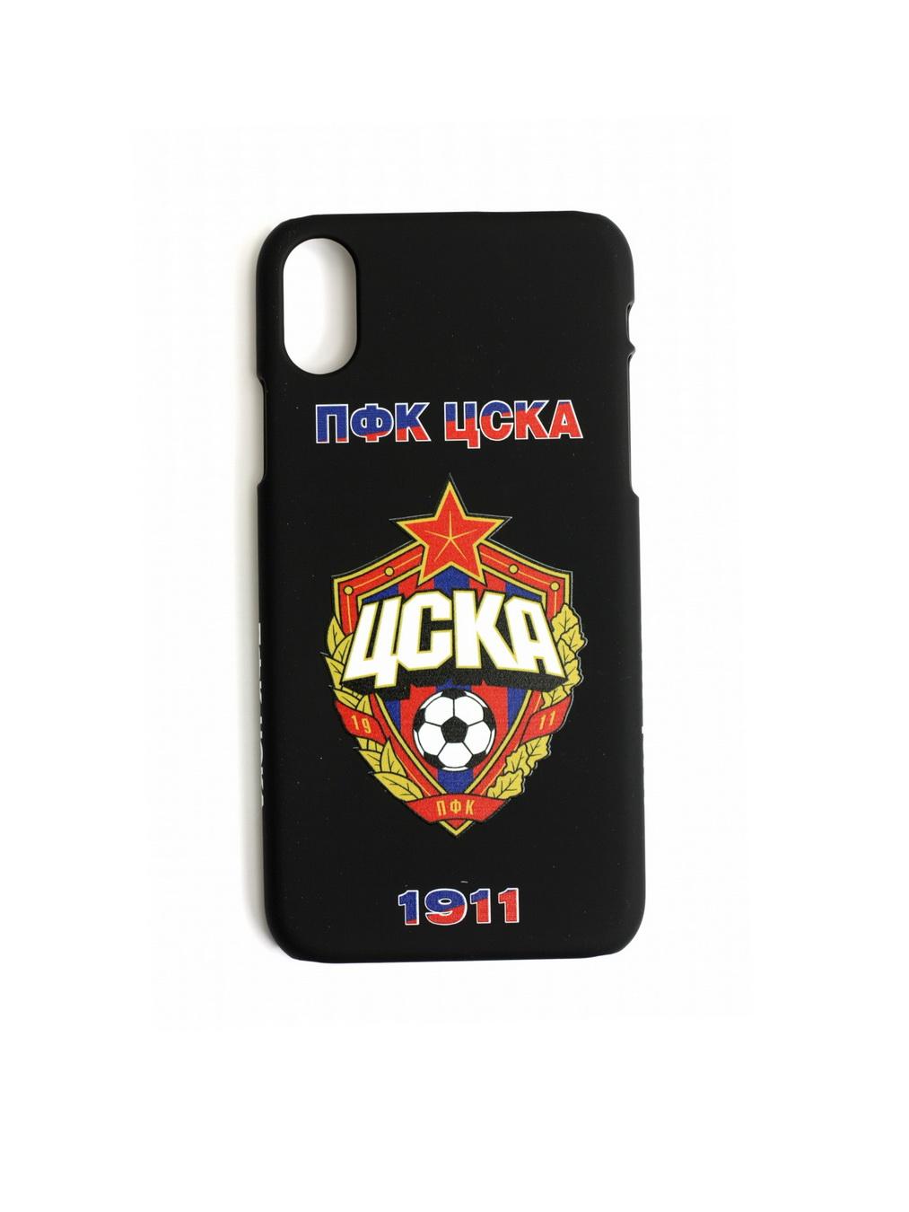 Клип-кейс ПФК ЦСКА 1911 для iPhone X чёрный фото