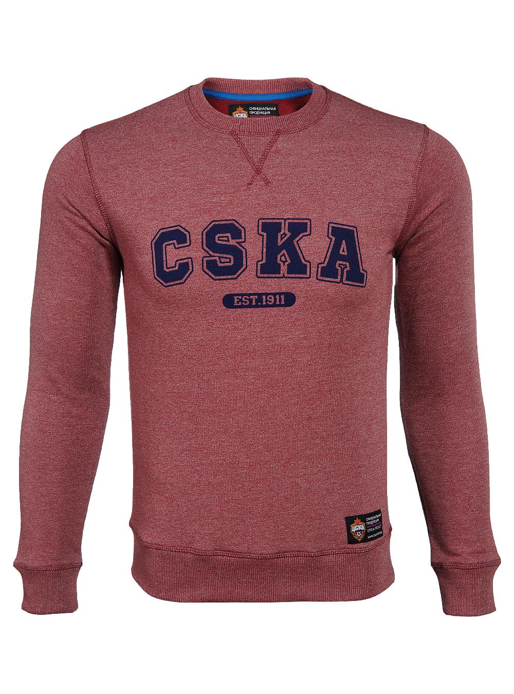 Свитшот CSKA. Est 1911, цвет бордовый (XXL)Толстовки мужские<br>Свитшот CSKA. Est 1911, цвет бордовый<br>