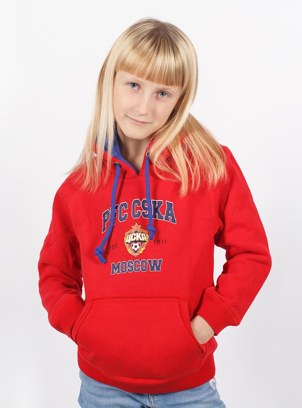 Толстовка детская PFC CSKA MOSCOW, цвет красный (110)Одежда<br>Толстовка детская PFC CSKA MOSCOW, цвет красный<br>