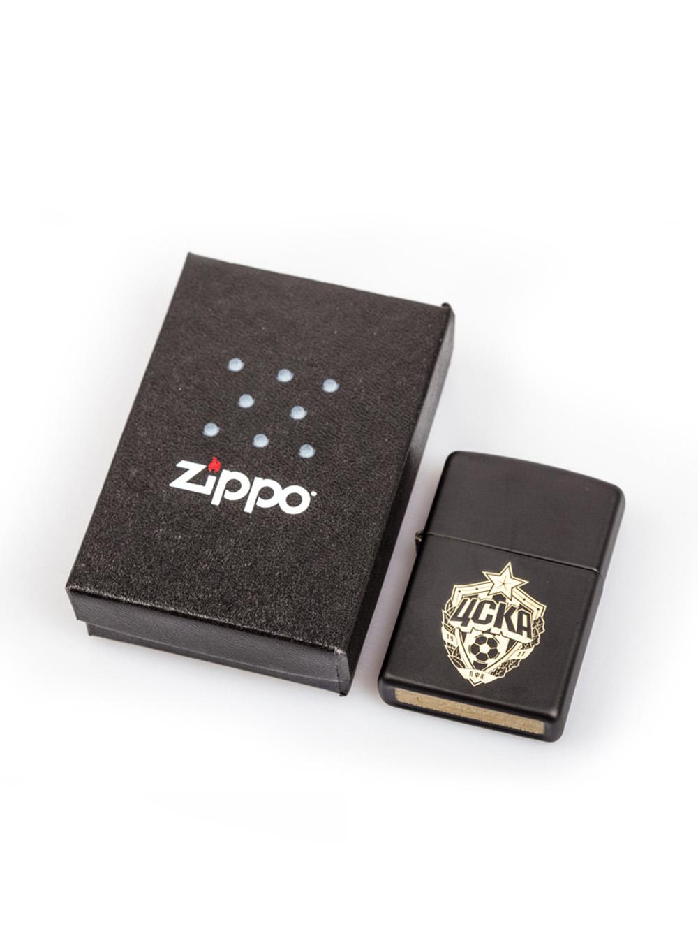 Зажигалка ZIPPO, цвет чёрный матовый фото