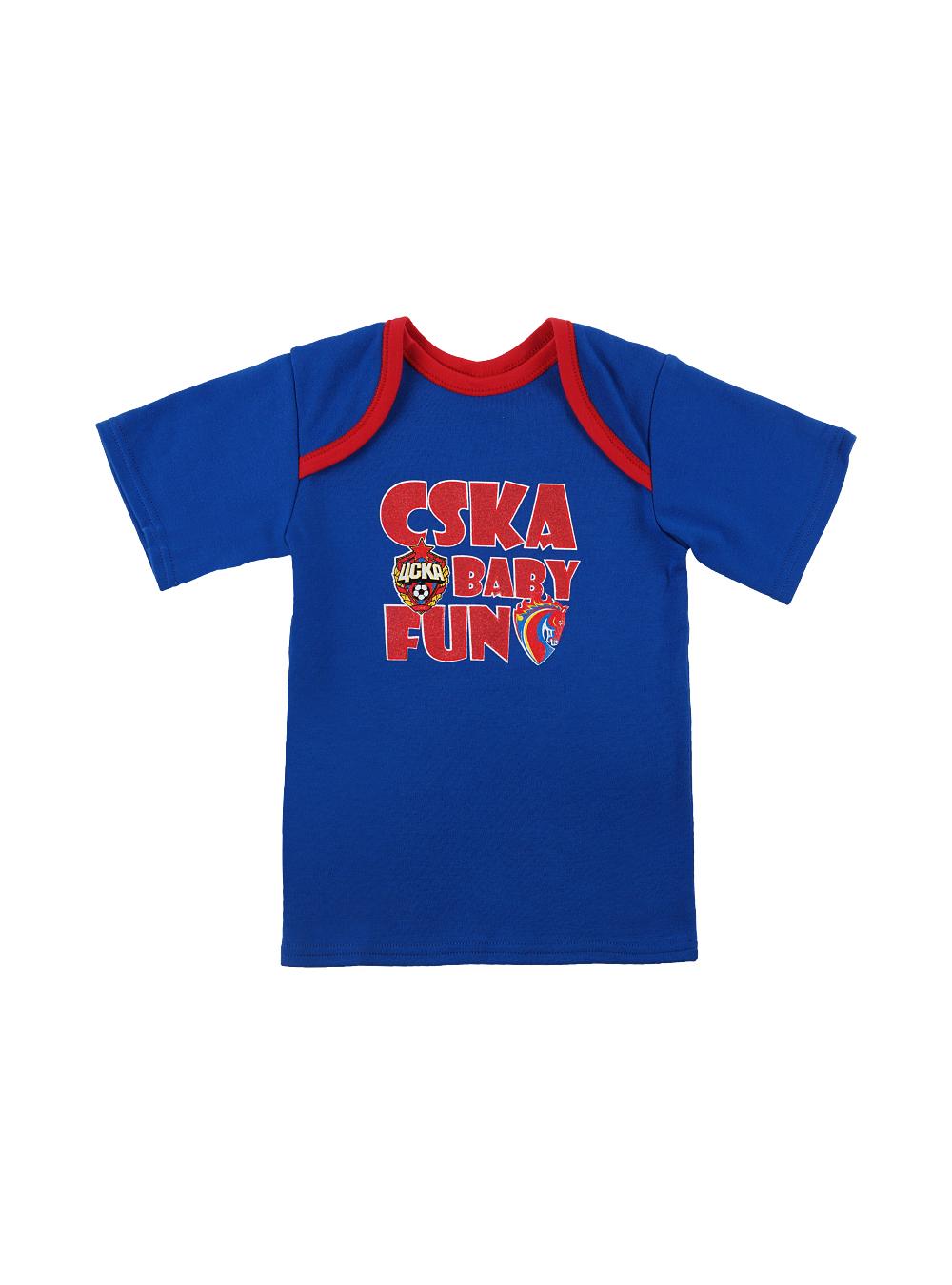 Футболка с коротким рукавом CSKA BABY FUN, цвет синий (30(98-104))Для самых маленьких<br>Футболка с коротким рукавом CSKA BABY FUN, цвет синий<br>