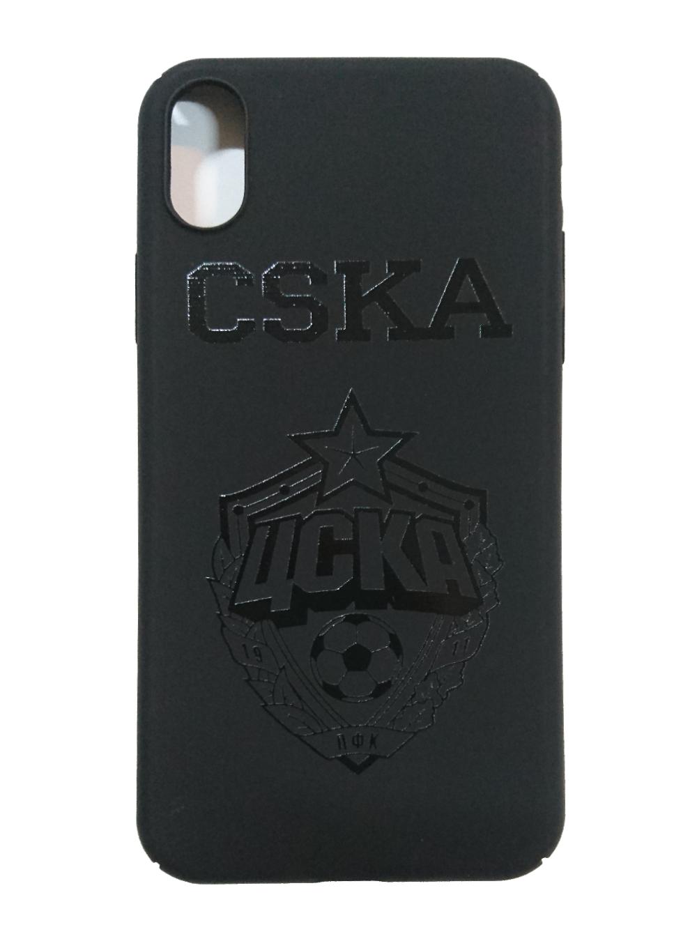 Клип-кейс CSKA Эмблема для iPhone X, цвет чёрный