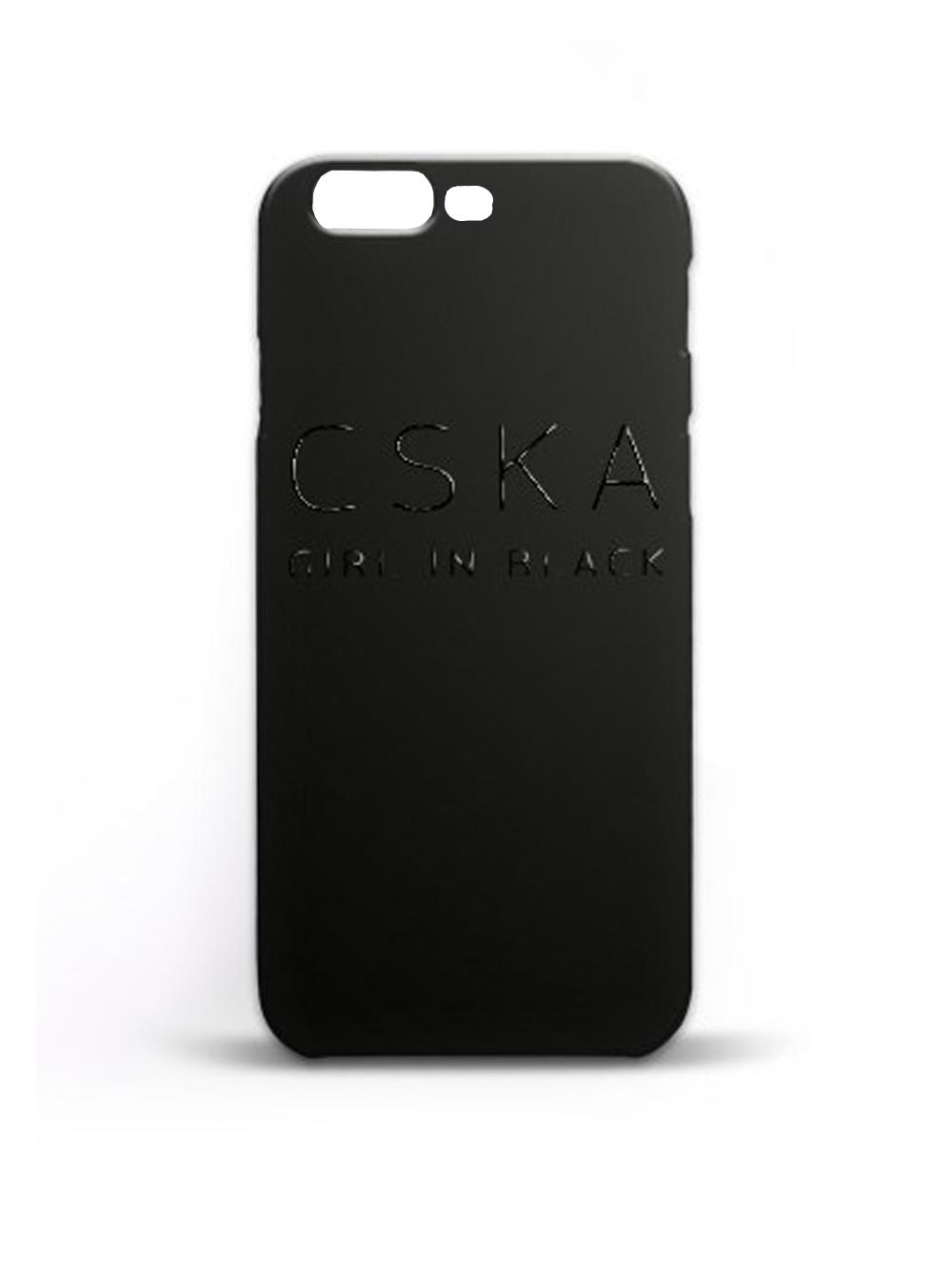 Клип-кейс CSKA GIRL IN BLACKдля iPhone 7 Plus, цвет чёрный