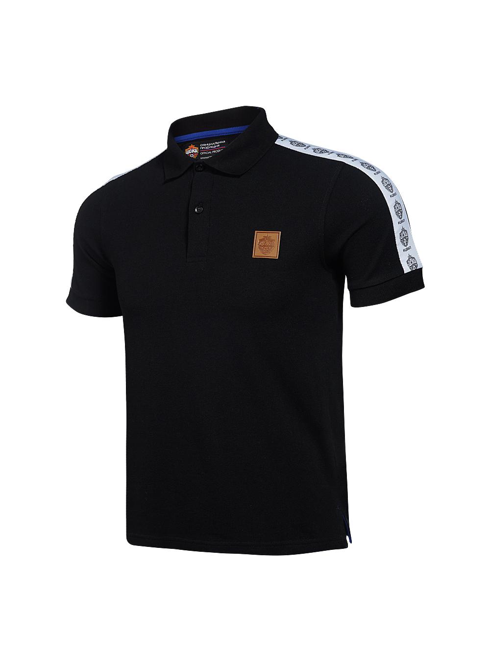 Поло мужское #ЦВБП, цвет чёрный (L) фото