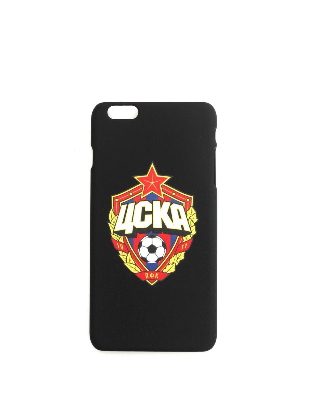 Клип-кейс для iPhone 6 Plus с объемной эмблемой ПФК ЦСКА, цвет черный фото