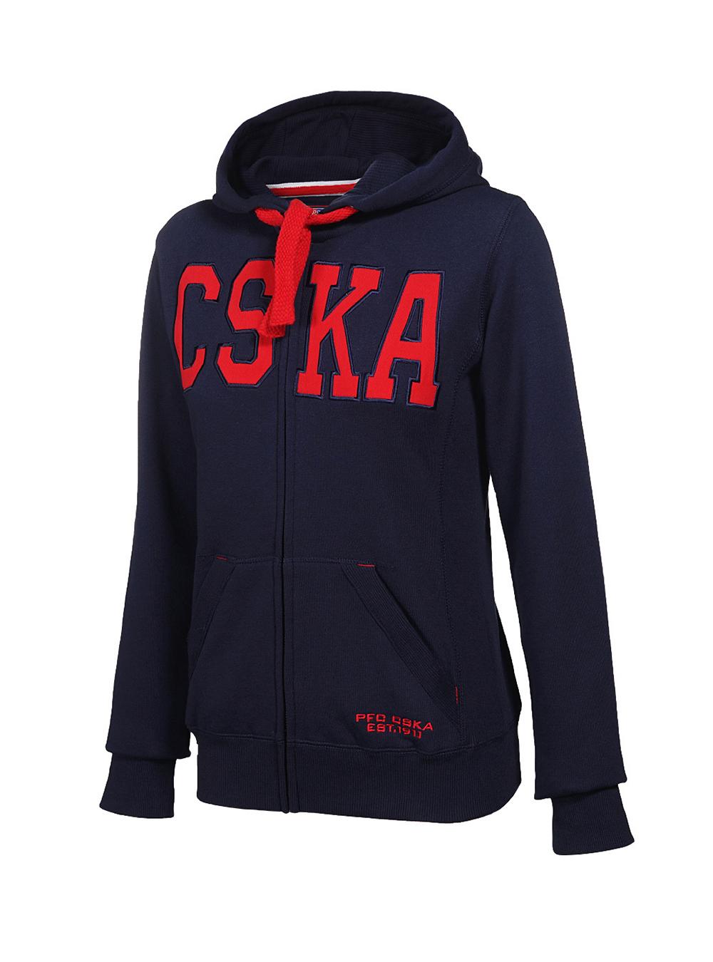 Толстовка CSKA женская, цвет синий (M) фото