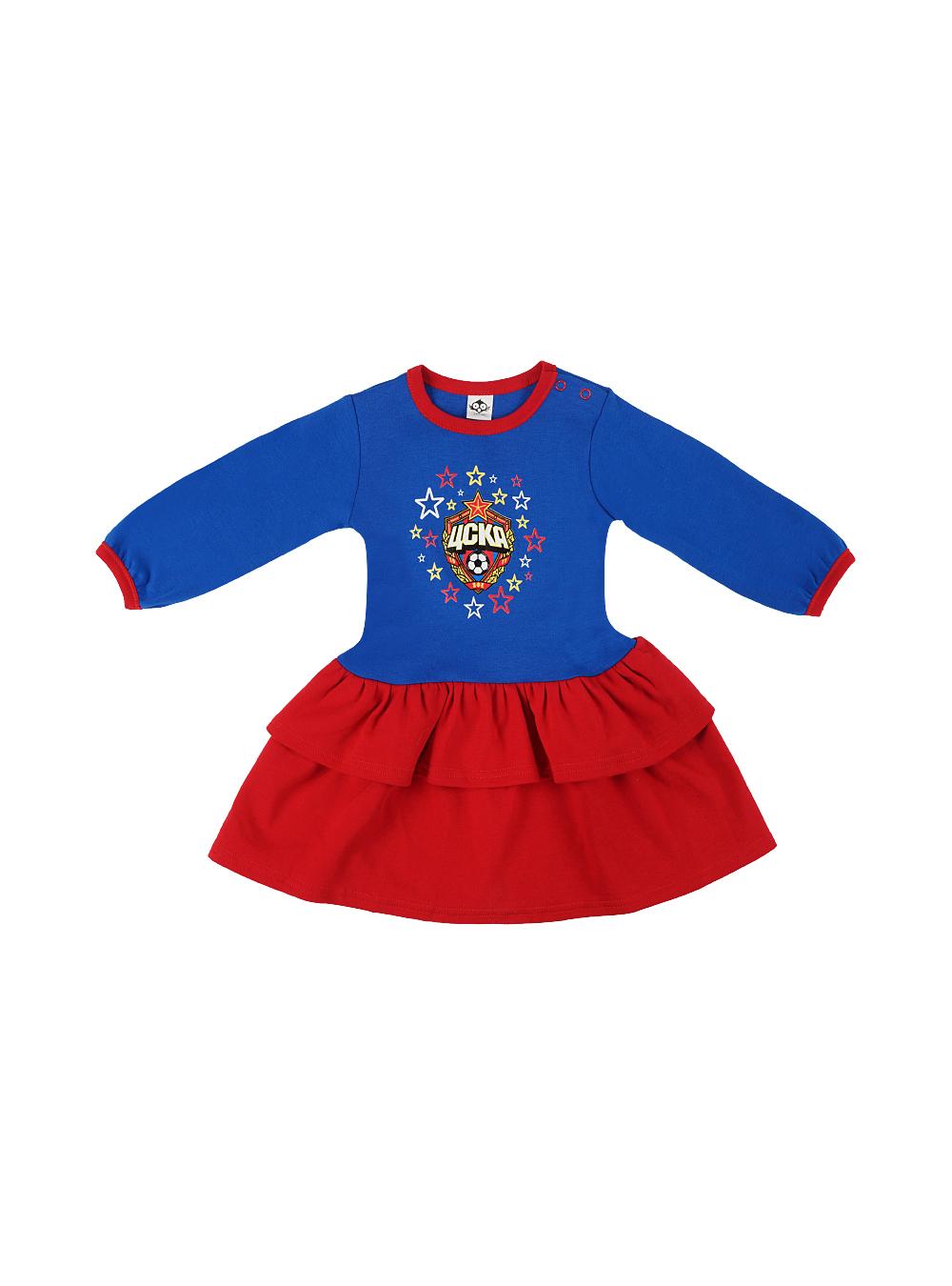 Платье детское, цвет синий (22(68-74))Для самых маленьких<br>Платье детское, цвет синий<br>