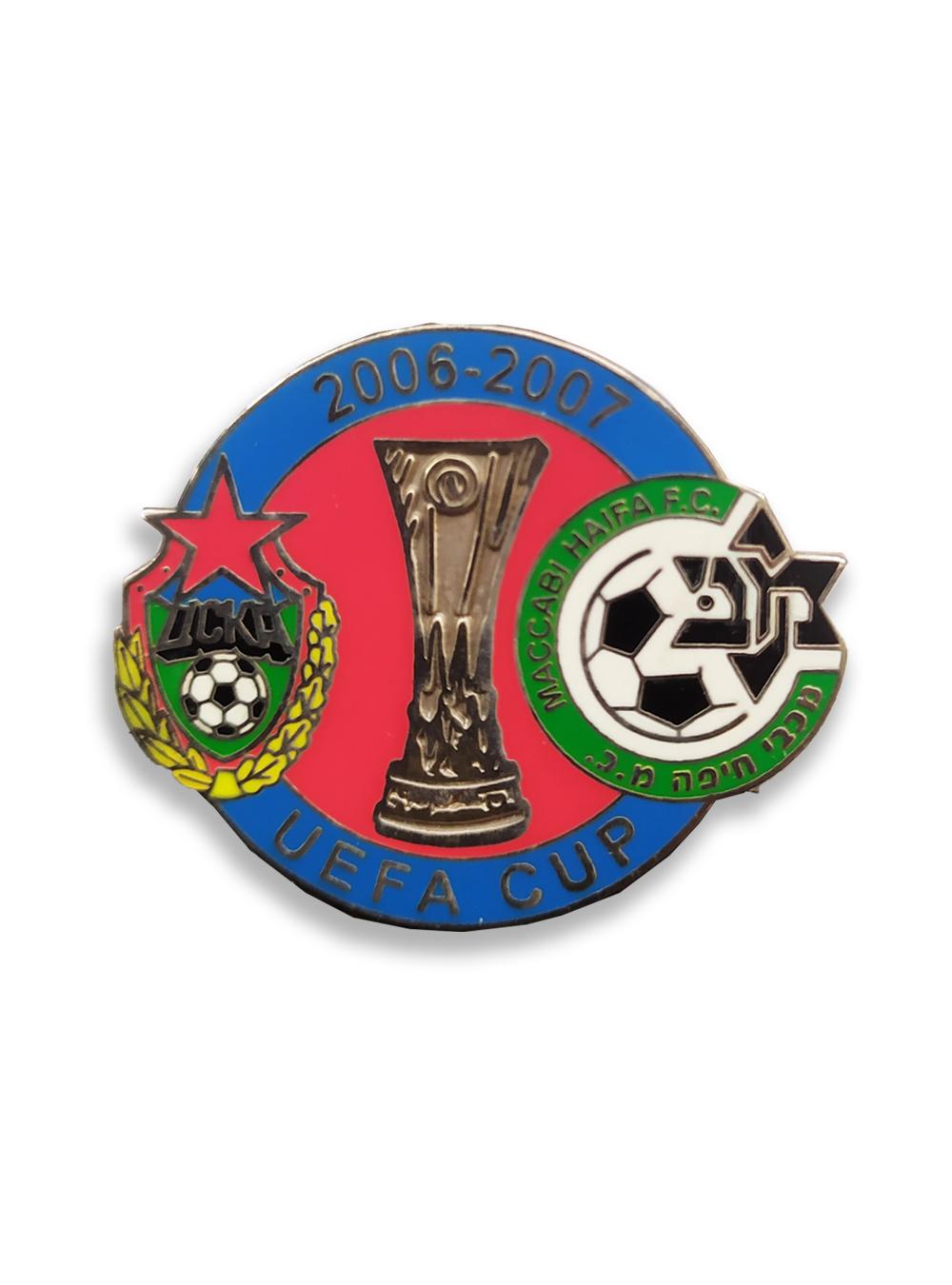 Коллекционный значок Кубок УЕФА 2006-2007 1/16 финала фото