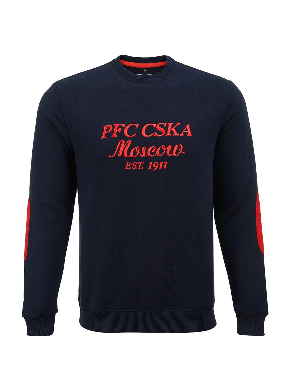 Свитшот с локтевыми заплатками PFC CSKA (L)Толстовки мужские<br>Свитшот с локтевыми заплатками PFC CSKA<br>