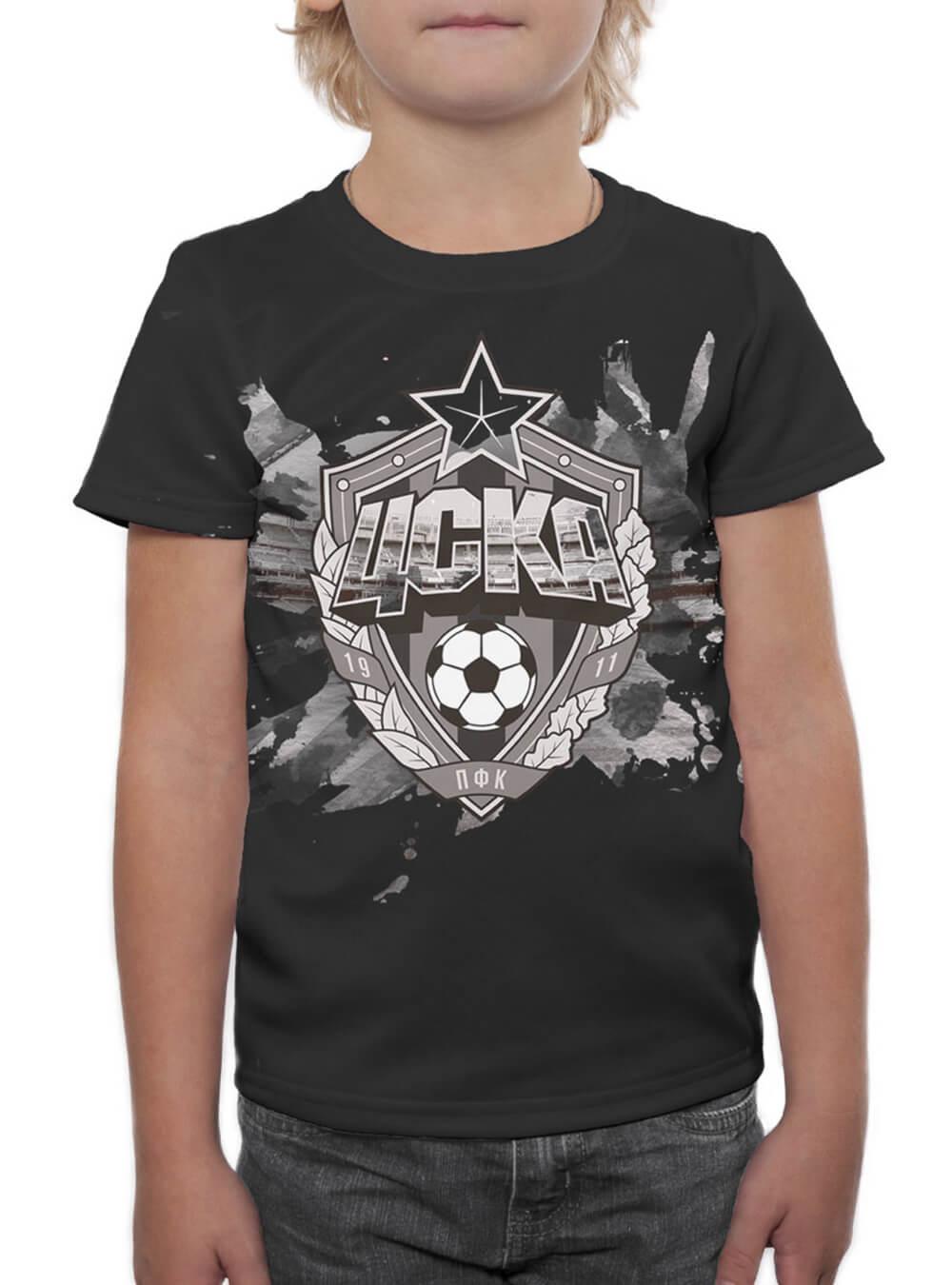 Футболка детская Эмблема черная (110)Одежда на заказ<br>Футболка детская Эмблема черная<br>