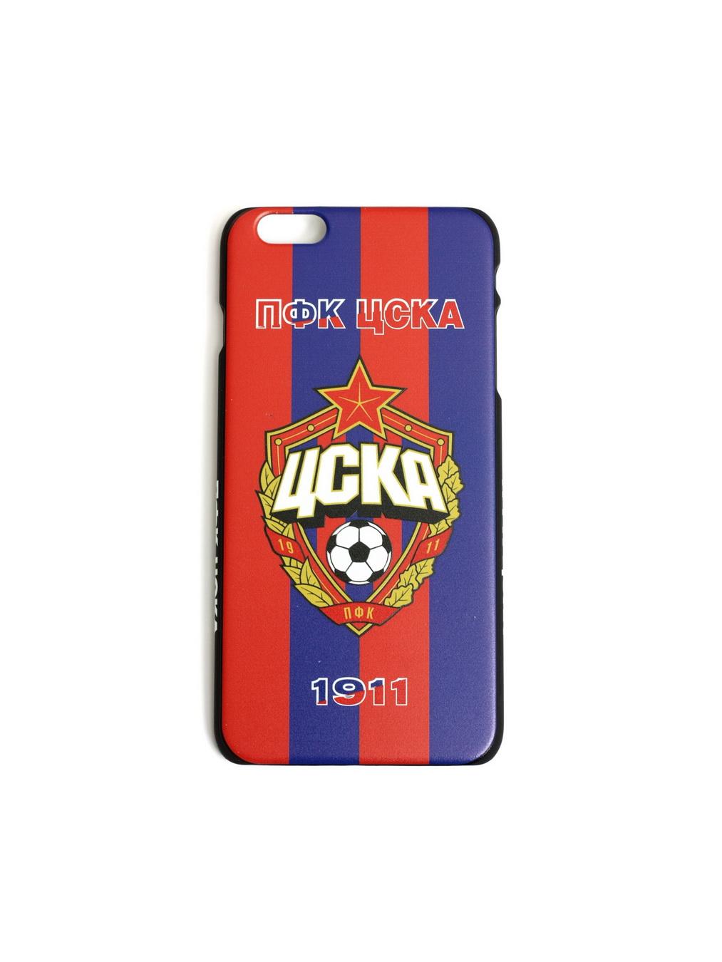 Клип-кейс ПФК ЦСКА 1911 для iPhone 6+ красно-синий фото