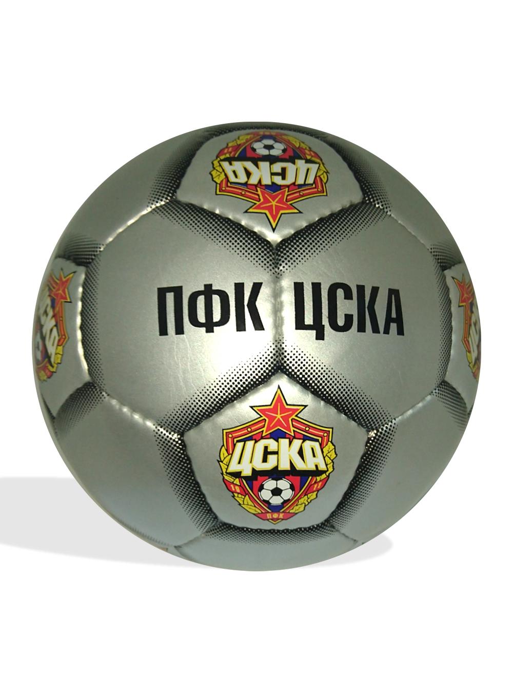 Мяч футбольный ПФК ЦСКА,серебро, размер 5