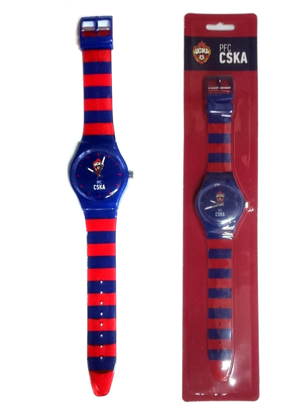 Часы наручные 33мм PFC CSKA, красно-синий ремешокЧасы<br>Часы наручные 33мм PFC CSKA, красно-синий ремешок<br>
