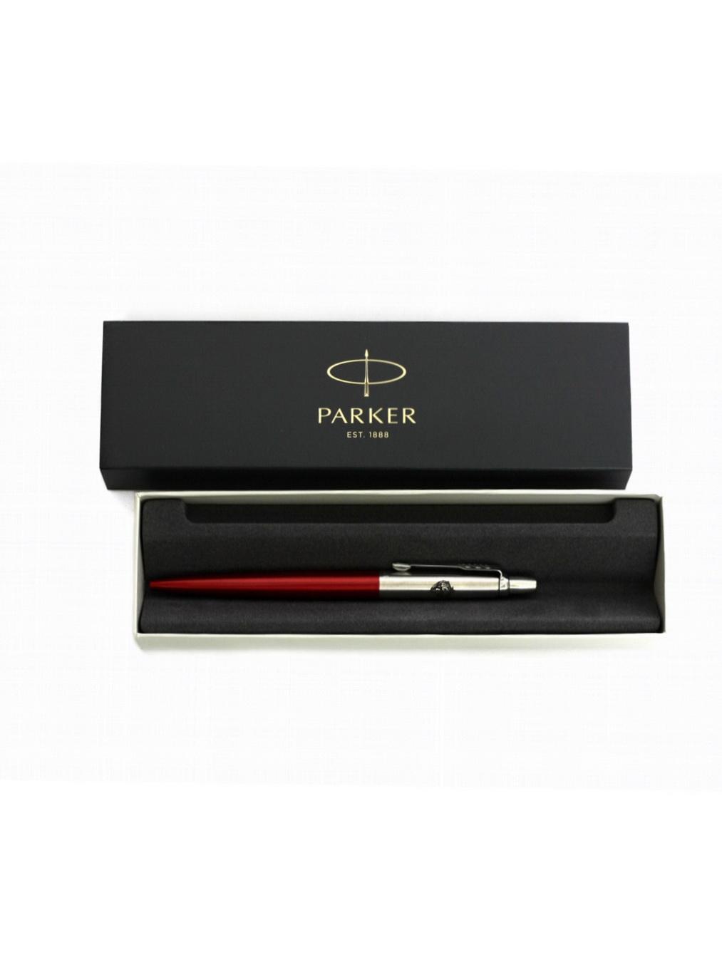 Ручка Parker металлическая, цвет красный