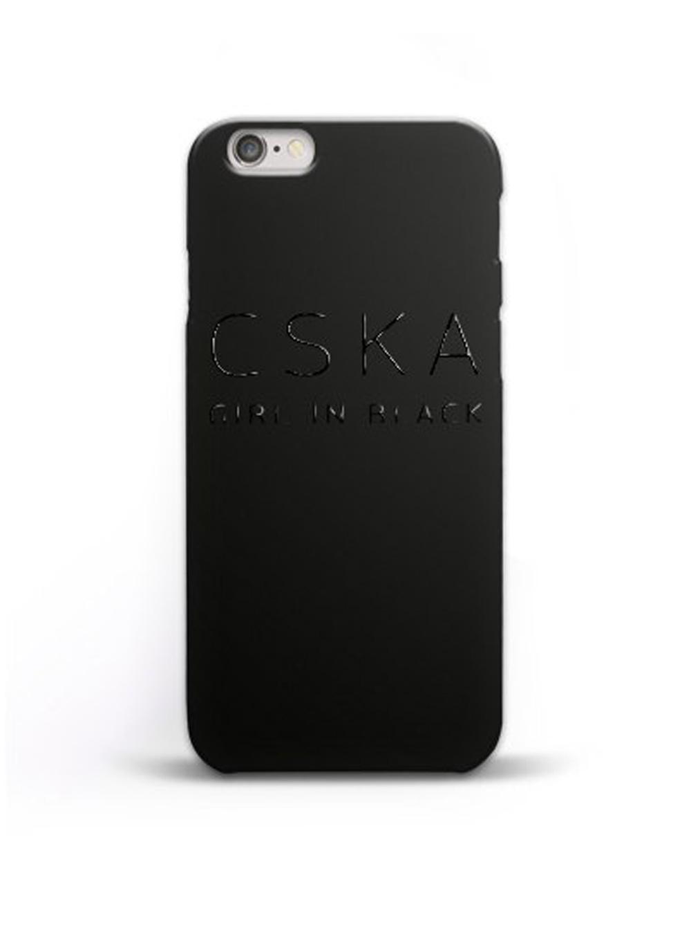 Клип-кейс CSKA GIRL IN BLACK для iPhone 7, цвет чёрный