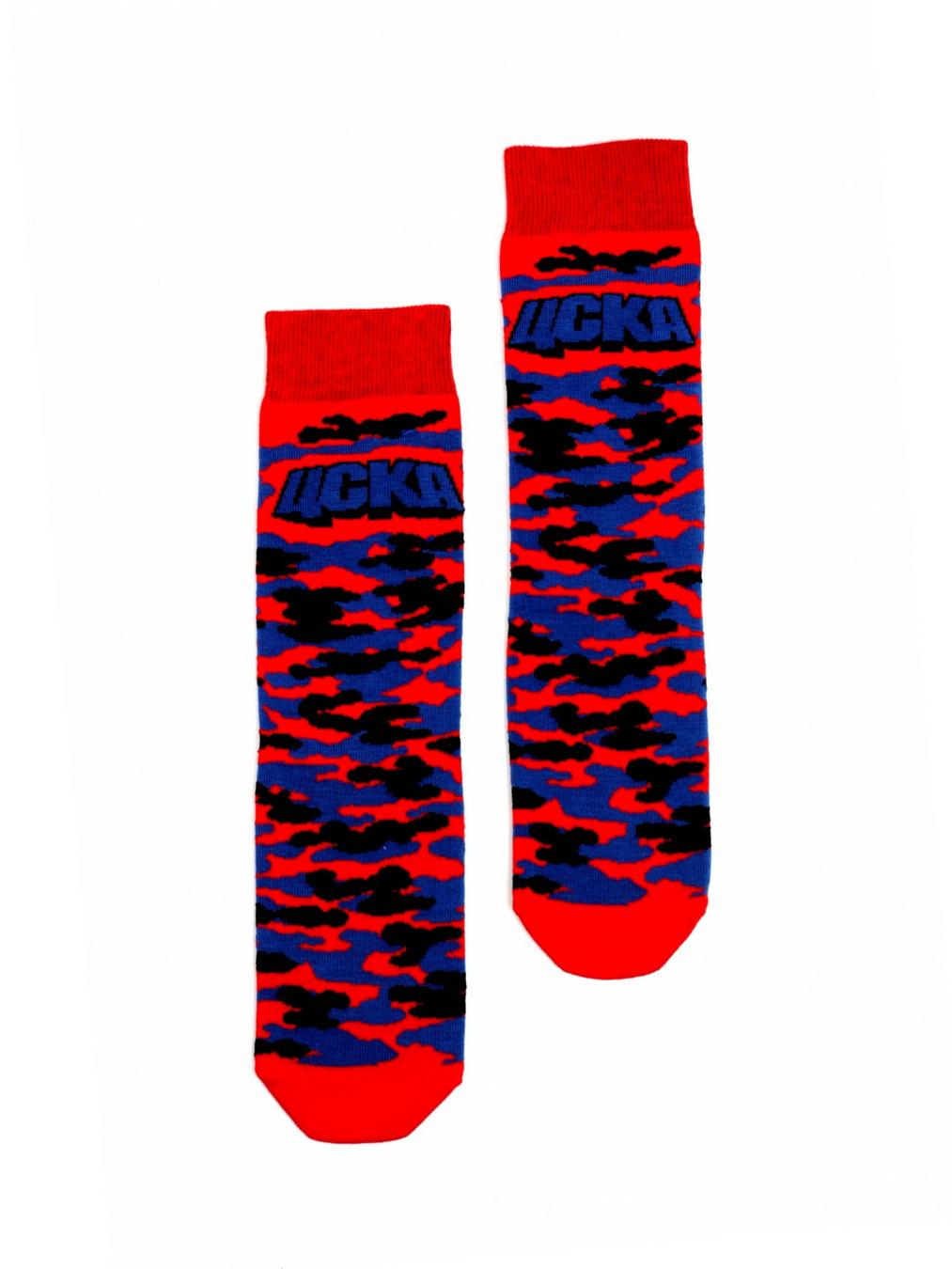 Носки детские Милитари,цвет красно-синий (35-36) фото