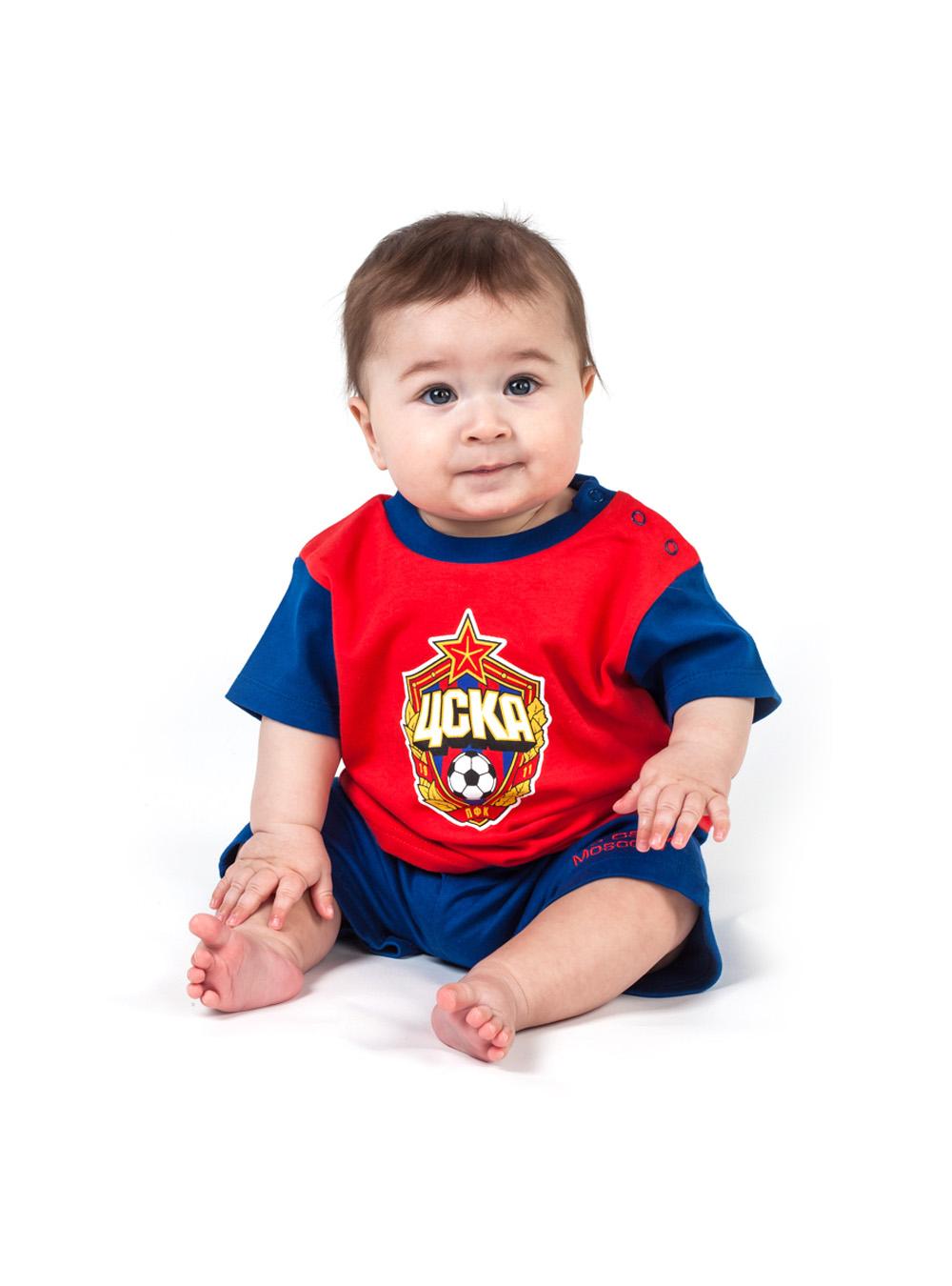 Костюм (футболка+шорты) (425010), цвет красный (98 (24-36 мес.))Для самых маленьких<br>Костюм (футболка+шорты) (425010), цвет красный<br>