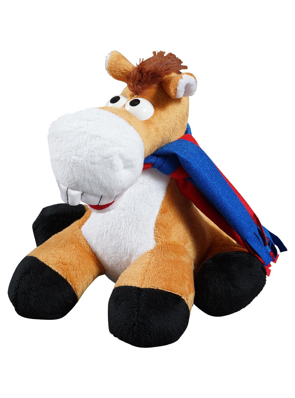Мягкая игрушка Конь с шарфомИгрушки<br>Мягкая игрушка Конь с шарфом<br>