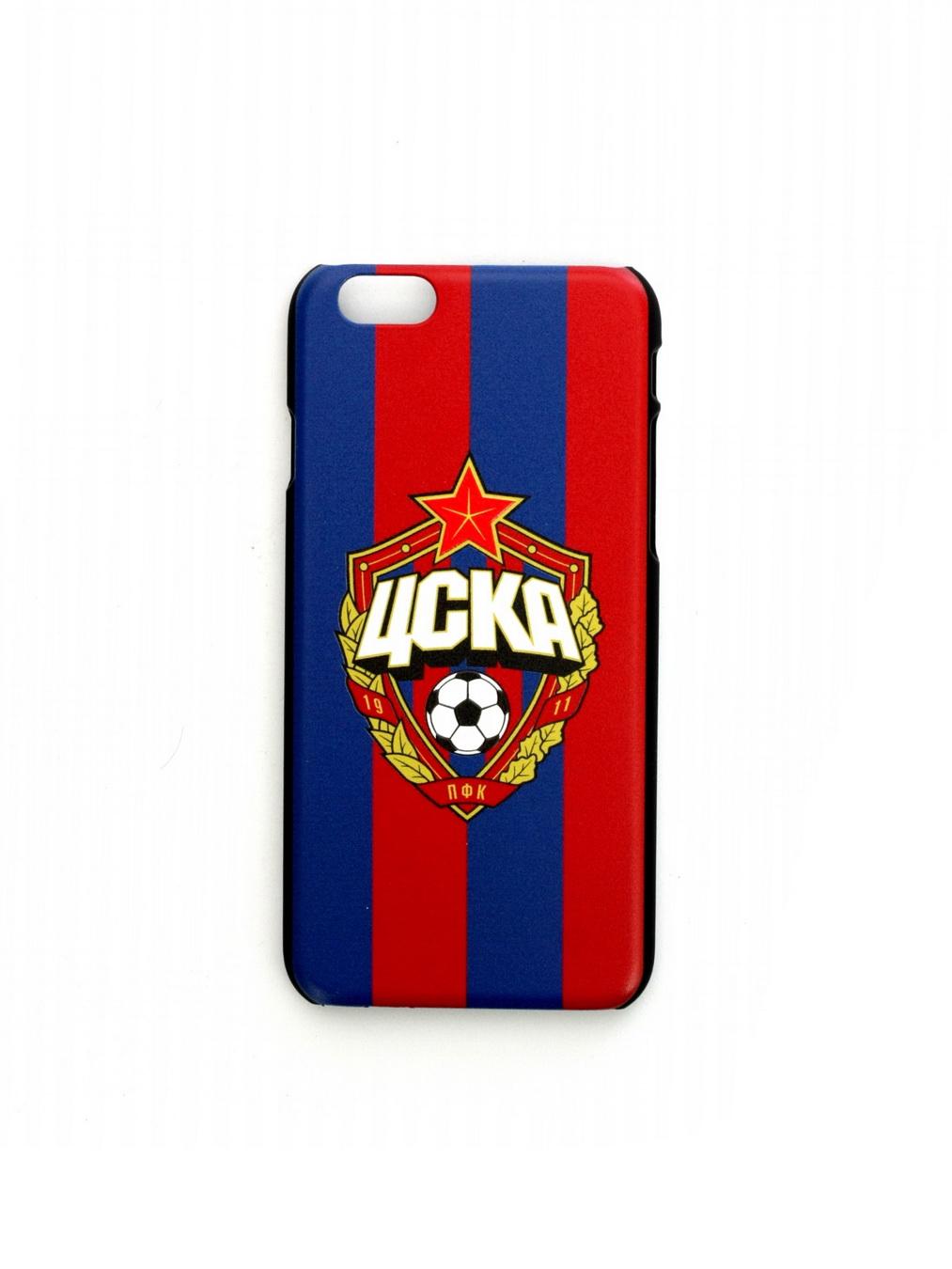 Клип-кейс для iPhone 6 Plus с объемной эмблемой ПФК ЦСКА, цвет красно-синий
