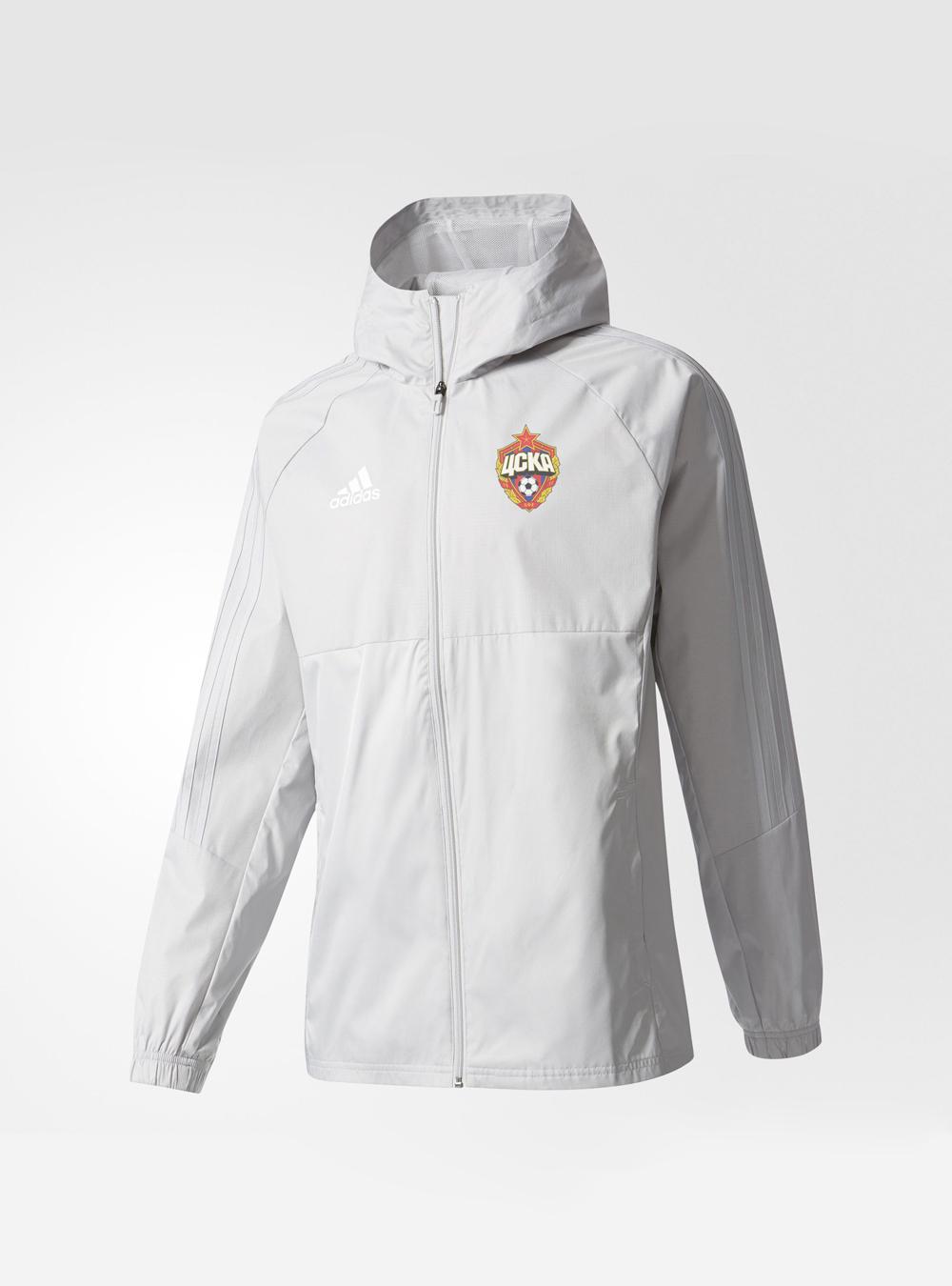 Куртка ветрозащитная с капюшоном, цвет серый (M)Экипировка 2017/2018<br>Куртка ветрозащитная с капюшоном, цвет серый<br>