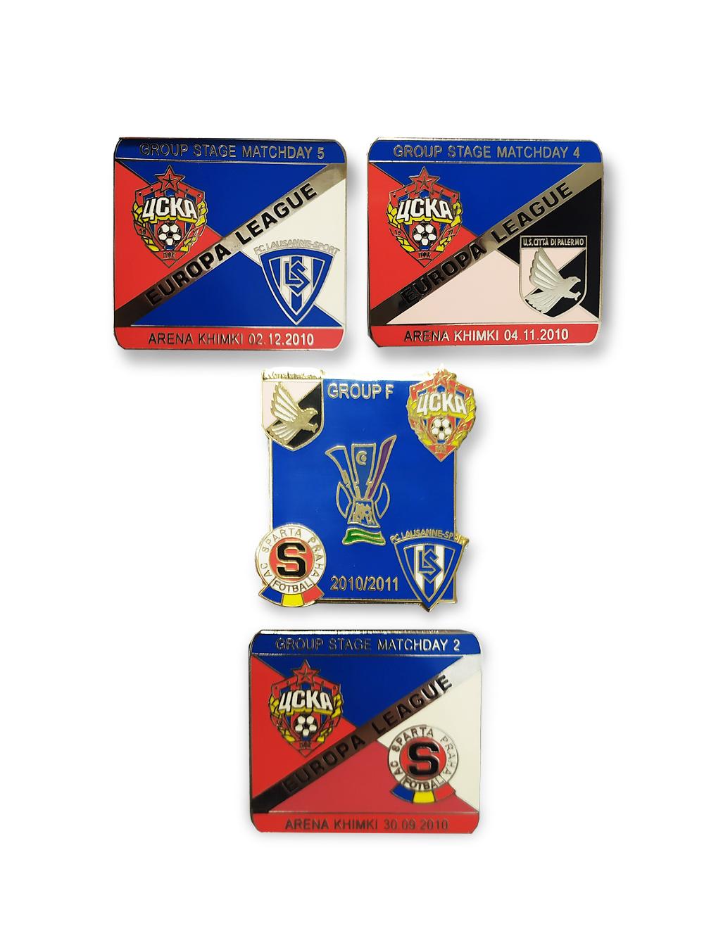 Набор коллекционных значков ЛЕ 2010-2011 (4 шт) фото