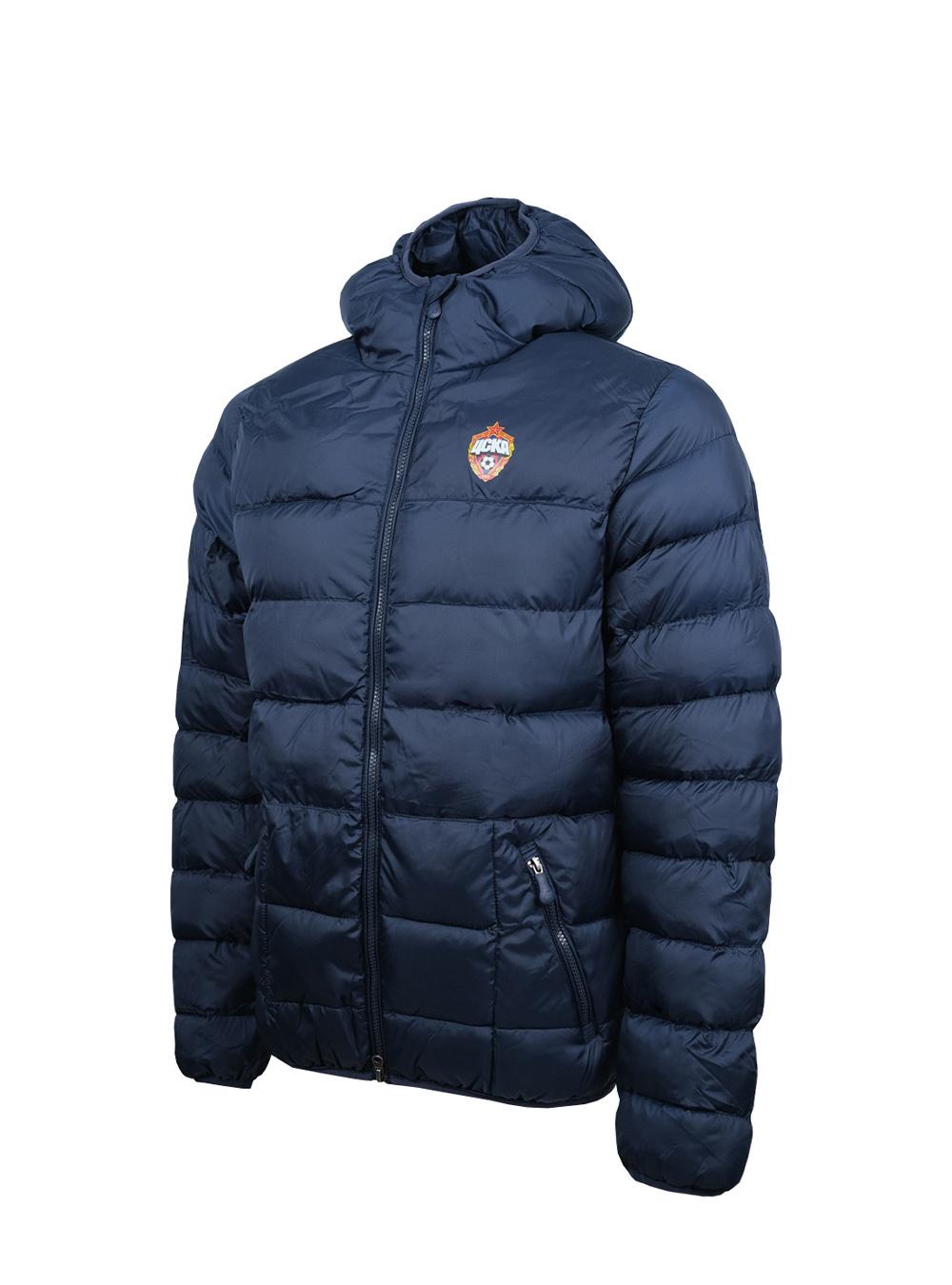 Куртка утеплённая, цвет тёмно-синий (S) фото