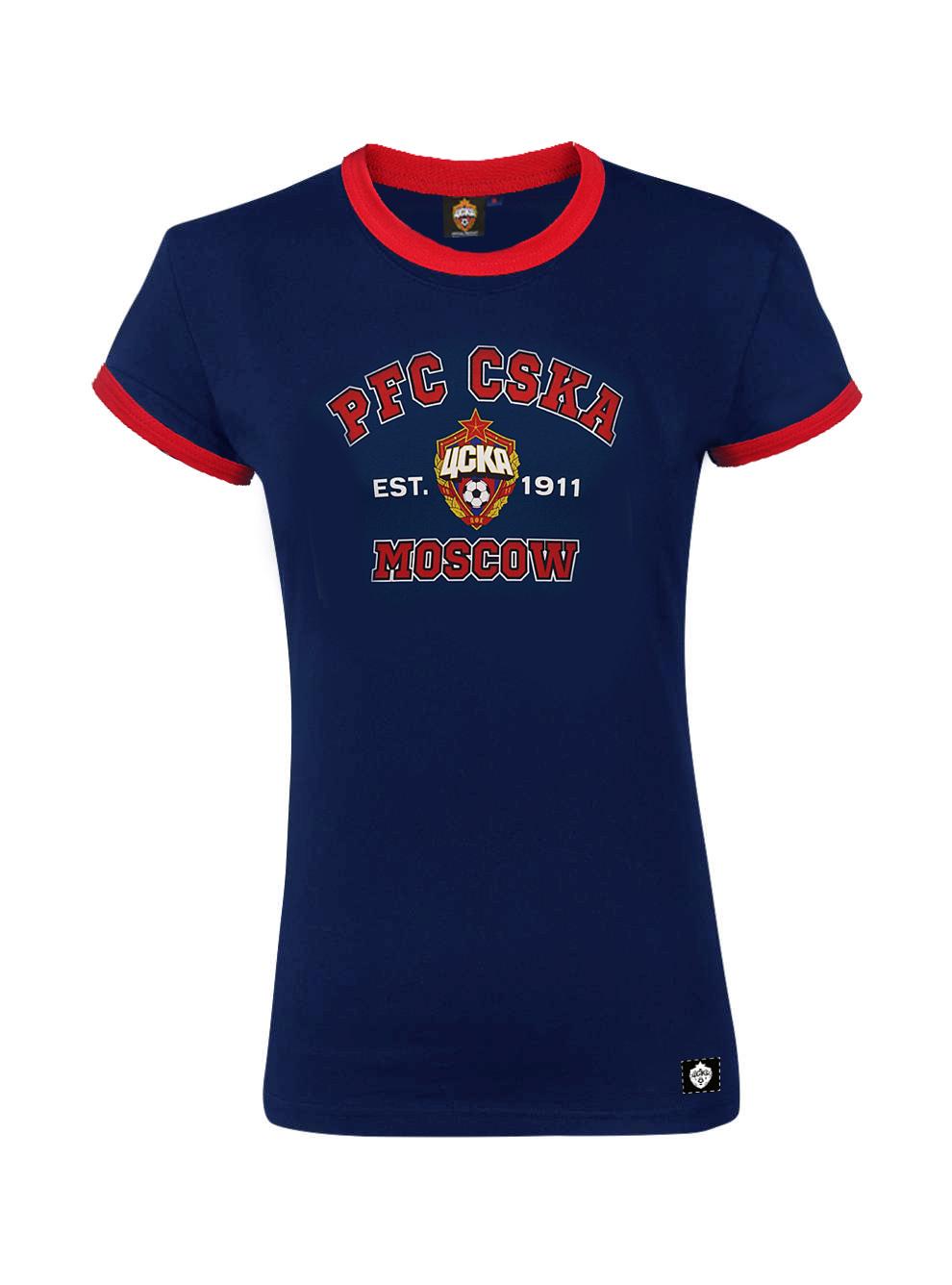 Футболка женская PFC CSKA MOSCOW, цвет тёмно-синий (L)