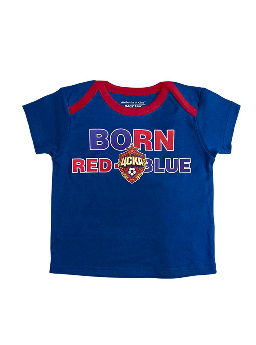 Футболка с коротким рукавом BORN Red Blue (415030), цвет синий (98 (24-36 мес.))Для самых маленьких<br>Футболка с коротким рукавом BORN Red Blue (415030), цвет синий<br>