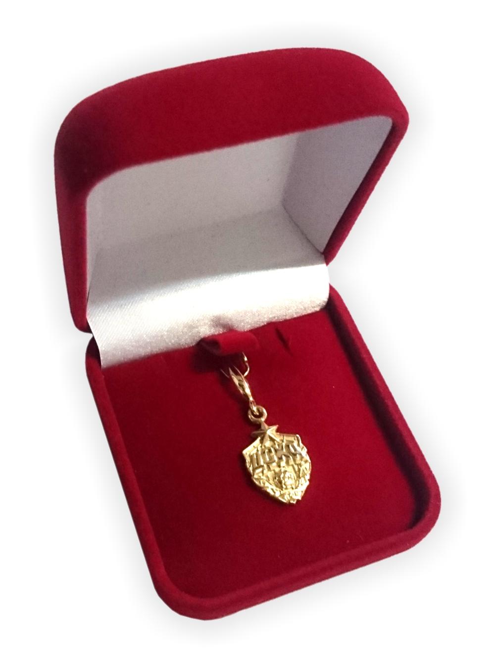 Кулон эмблема, золото фото