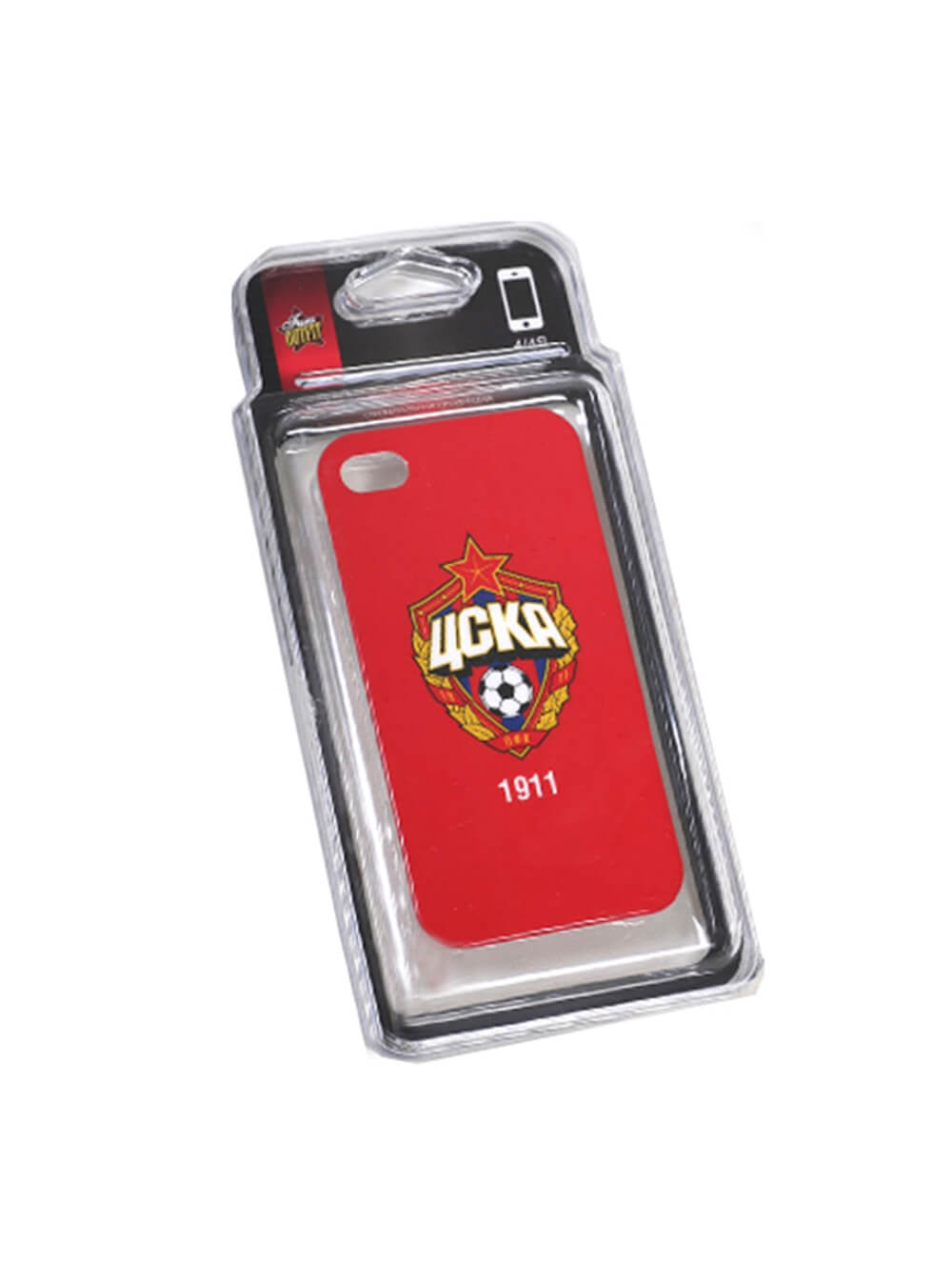 Клип-кейс для iPhone 4/4S красный фото