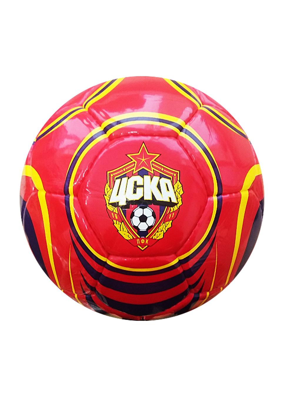 Мяч футбольный красно-синий