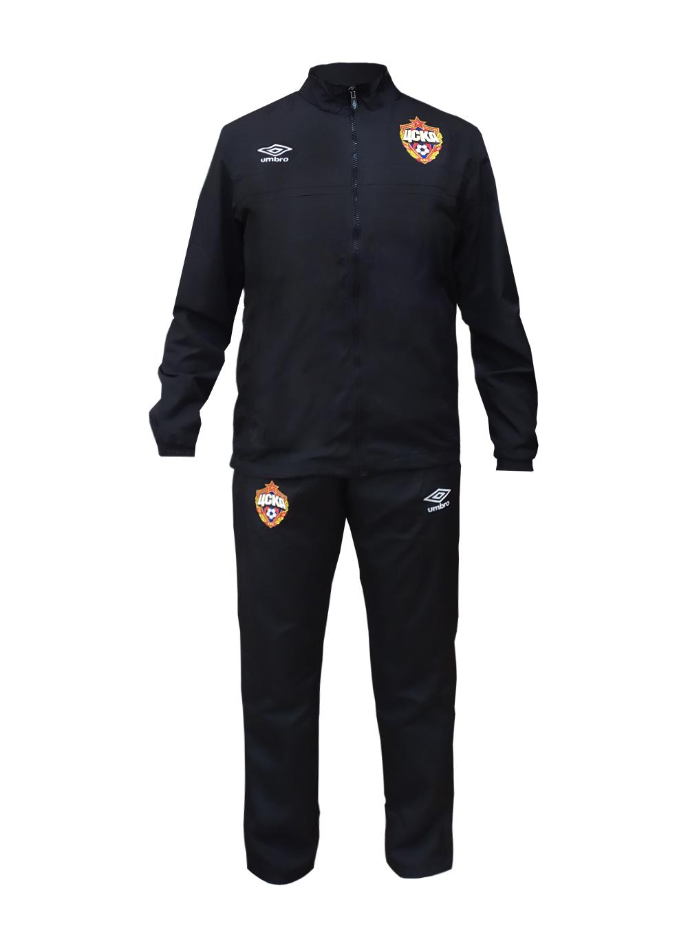 Костюм спортивный детский (куртка и брюки), черный/белый (164) фото