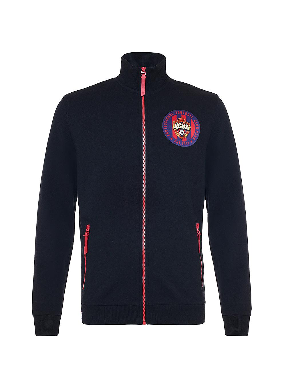 Толстовка на молнии PFC CSKA est 1911, цвет чёрный (L)